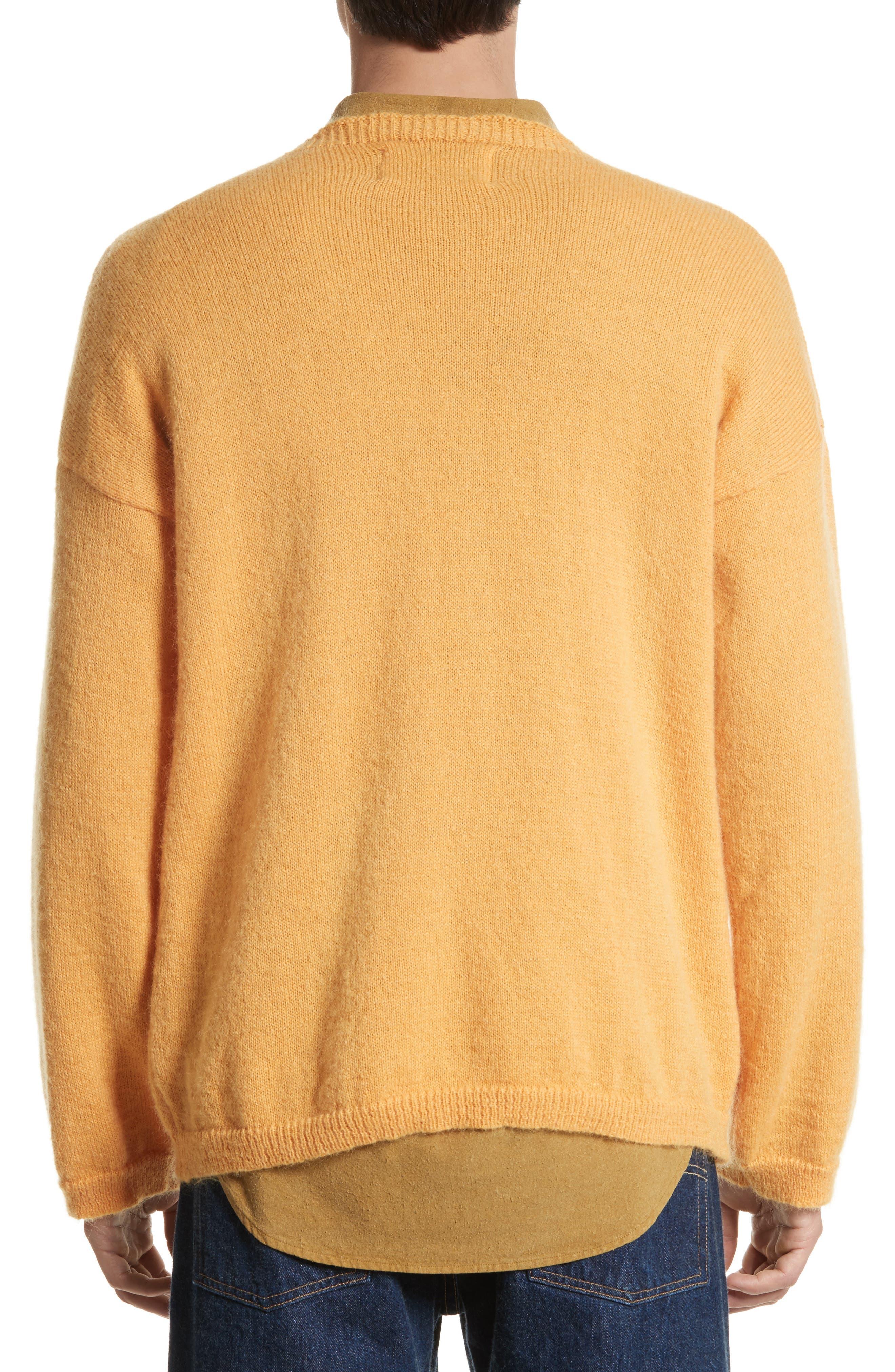 Mohair Blend Crewneck Sweater,                             Alternate thumbnail 2, color,