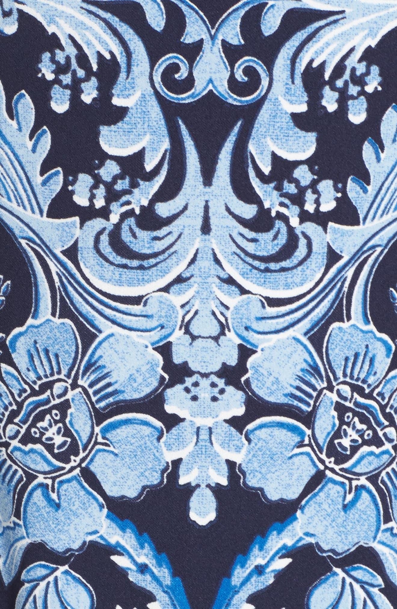 Crepe Sheath Dress,                             Alternate thumbnail 5, color,                             410
