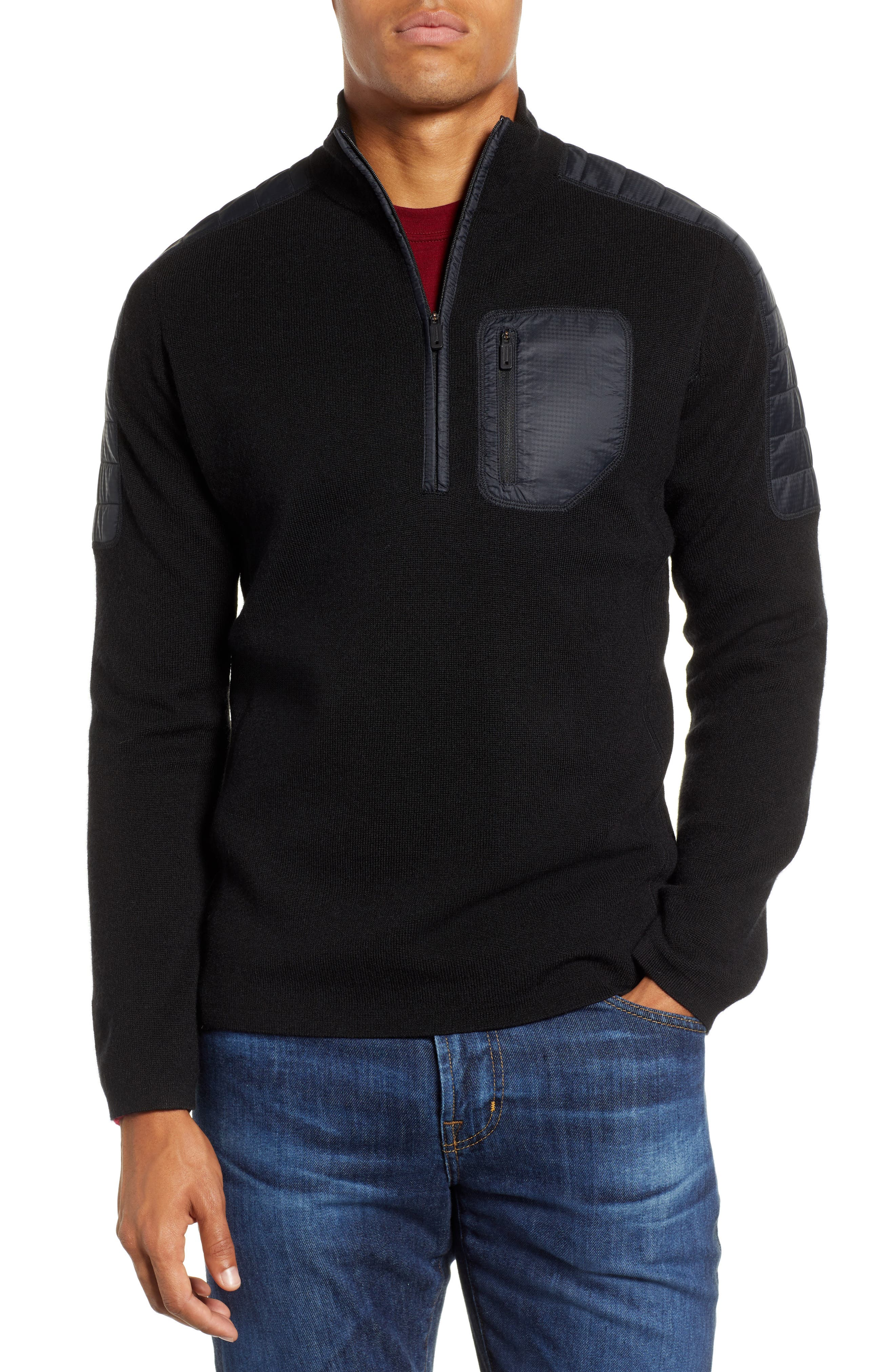 SMARTWOOL,                             Ski Ninja Pullover Sweater,                             Main thumbnail 1, color,                             BLACK