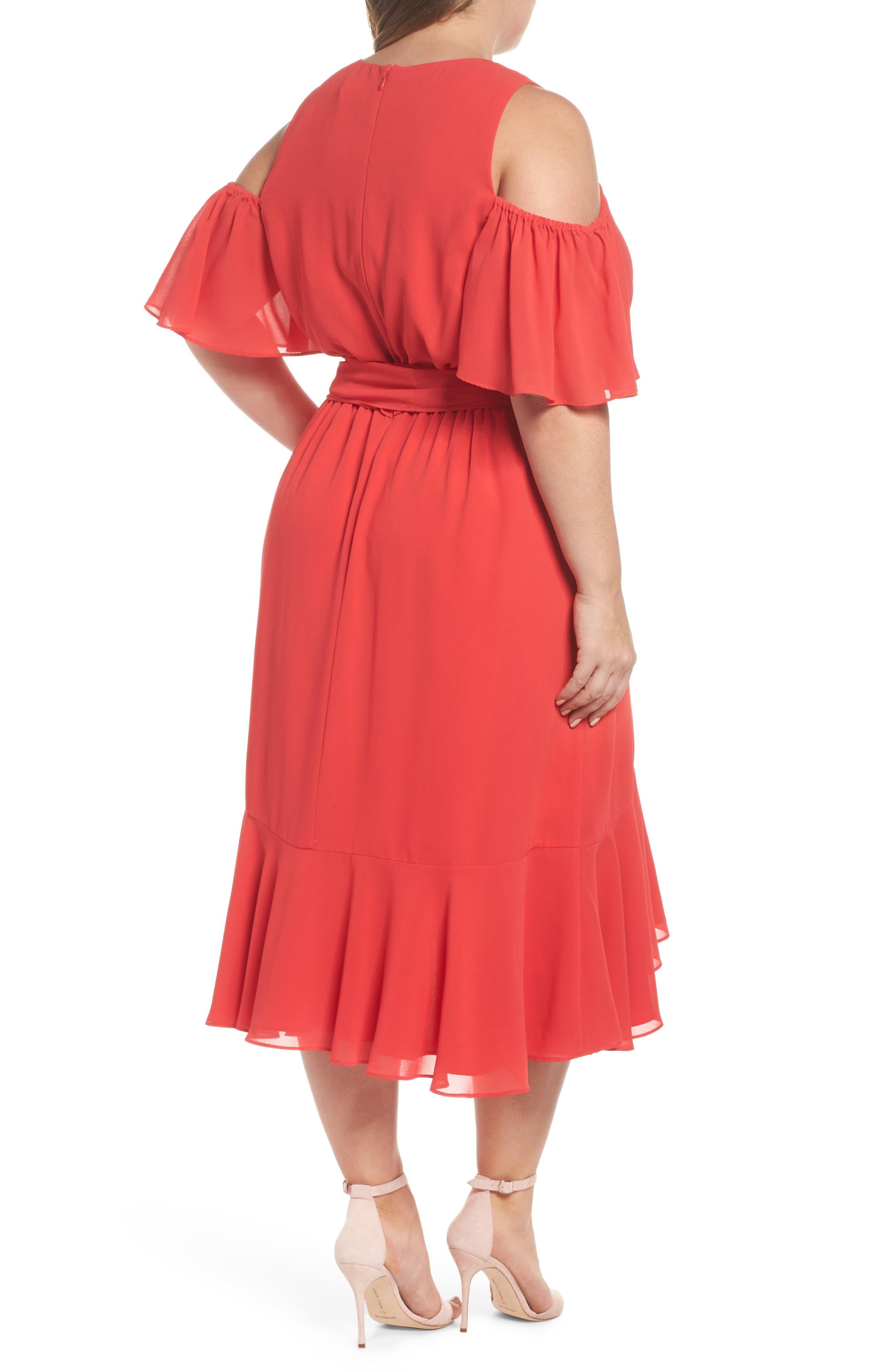 Cold Shoulder Midi Dress,                             Alternate thumbnail 2, color,                             650