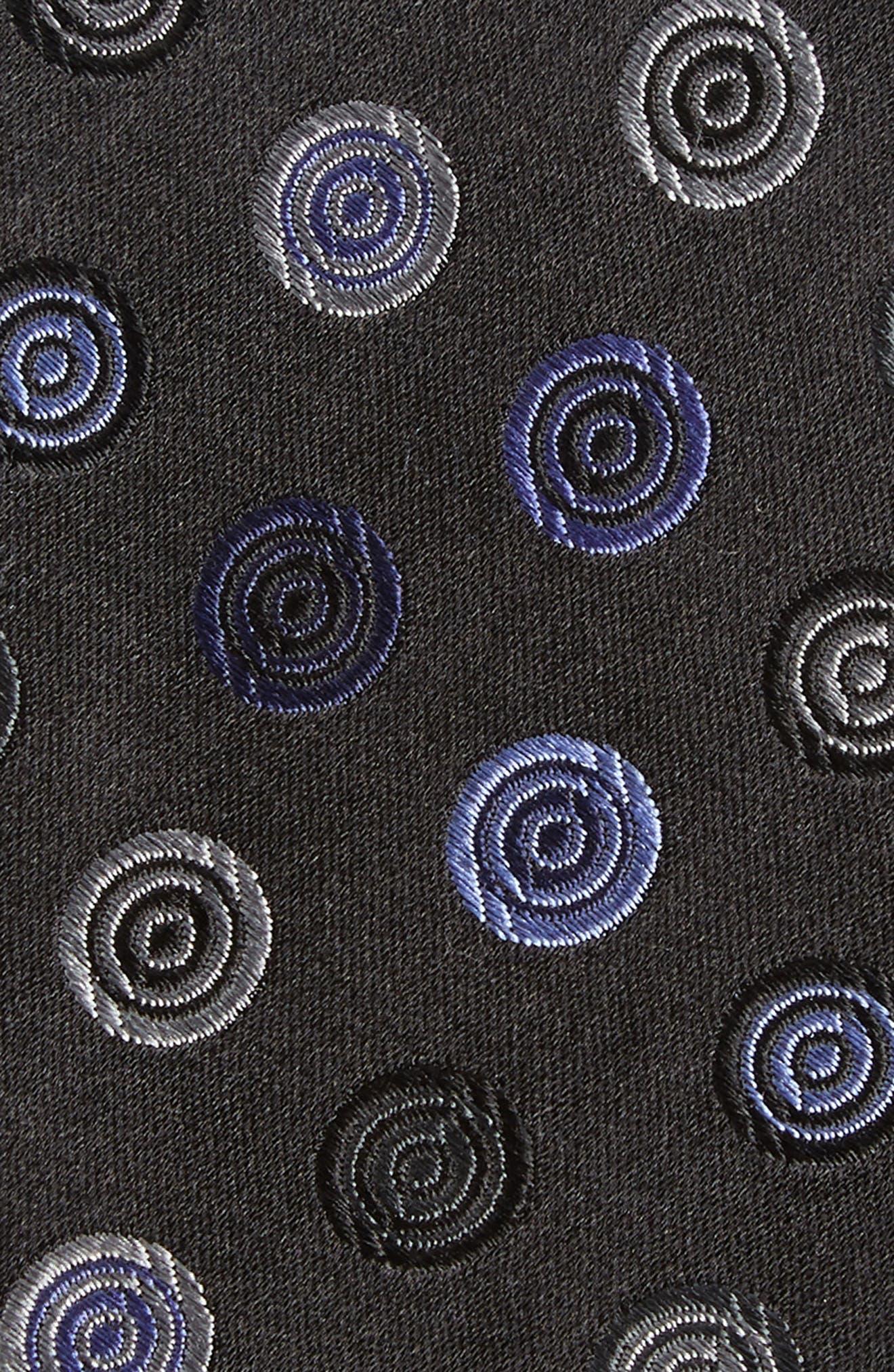 Santa Lucia Medallion Silk Tie,                             Alternate thumbnail 2, color,                             001
