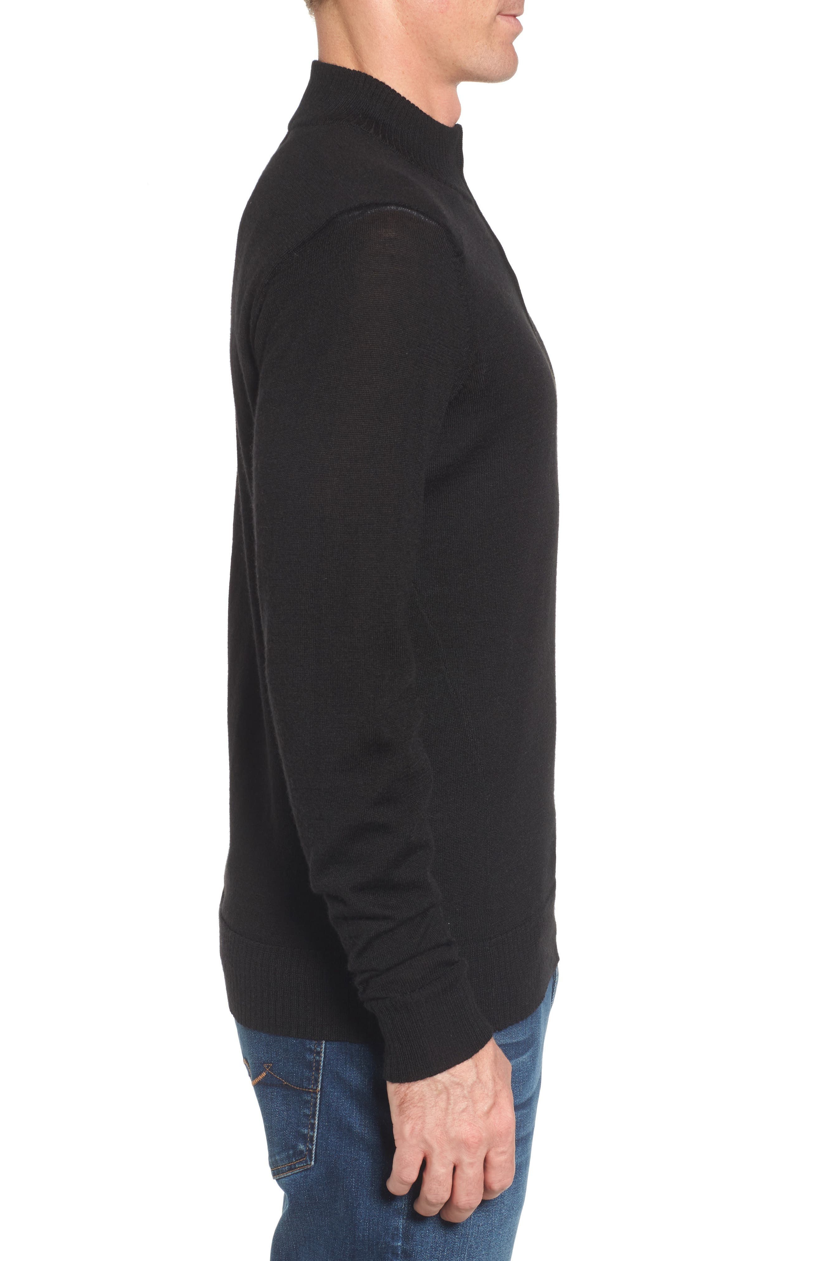 Kiva Ridge Merino Wool Blend Pullover,                             Alternate thumbnail 3, color,                             001
