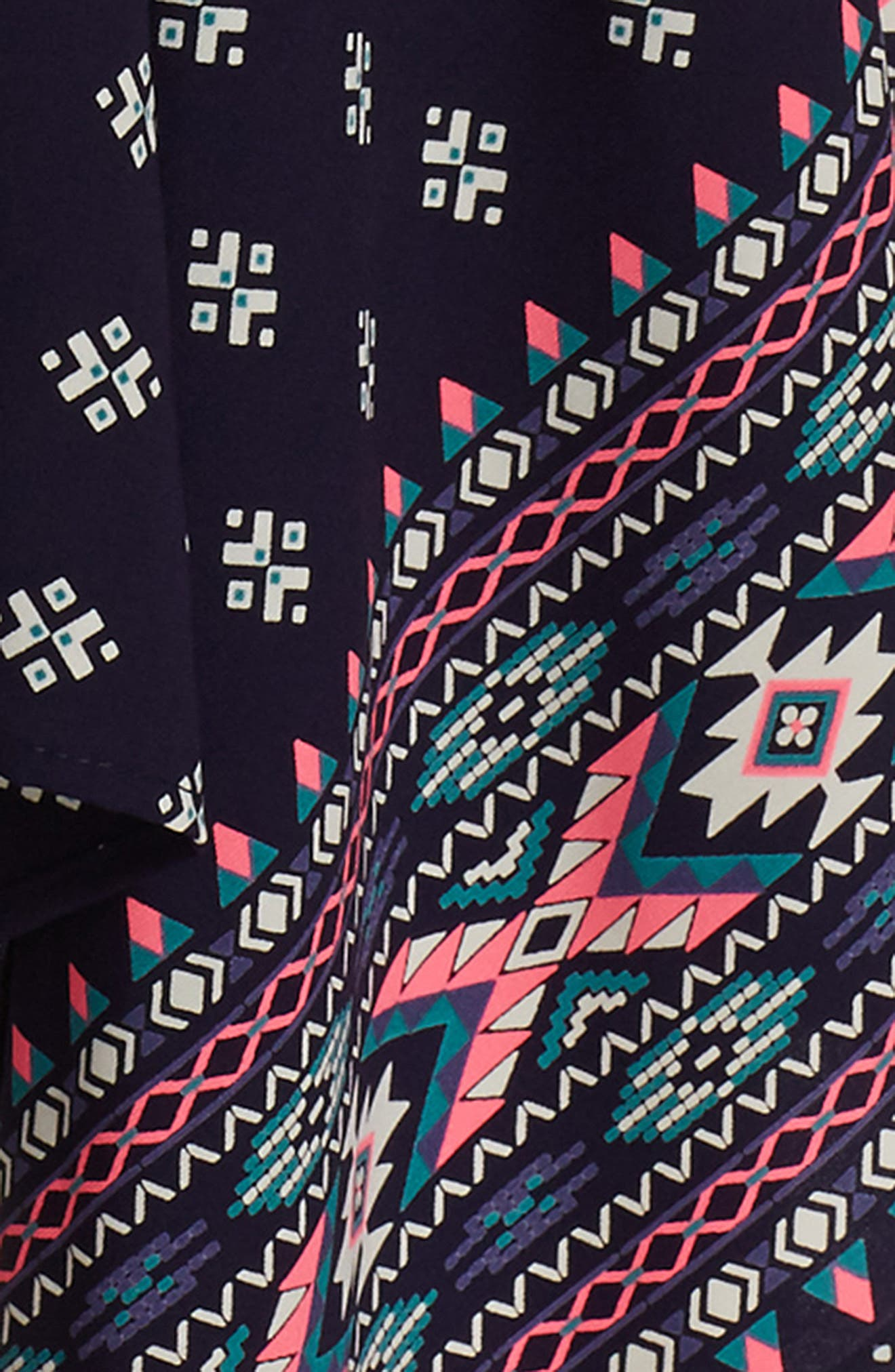 Print Handkerchief Dress,                             Alternate thumbnail 4, color,                             NAVY/ PINK