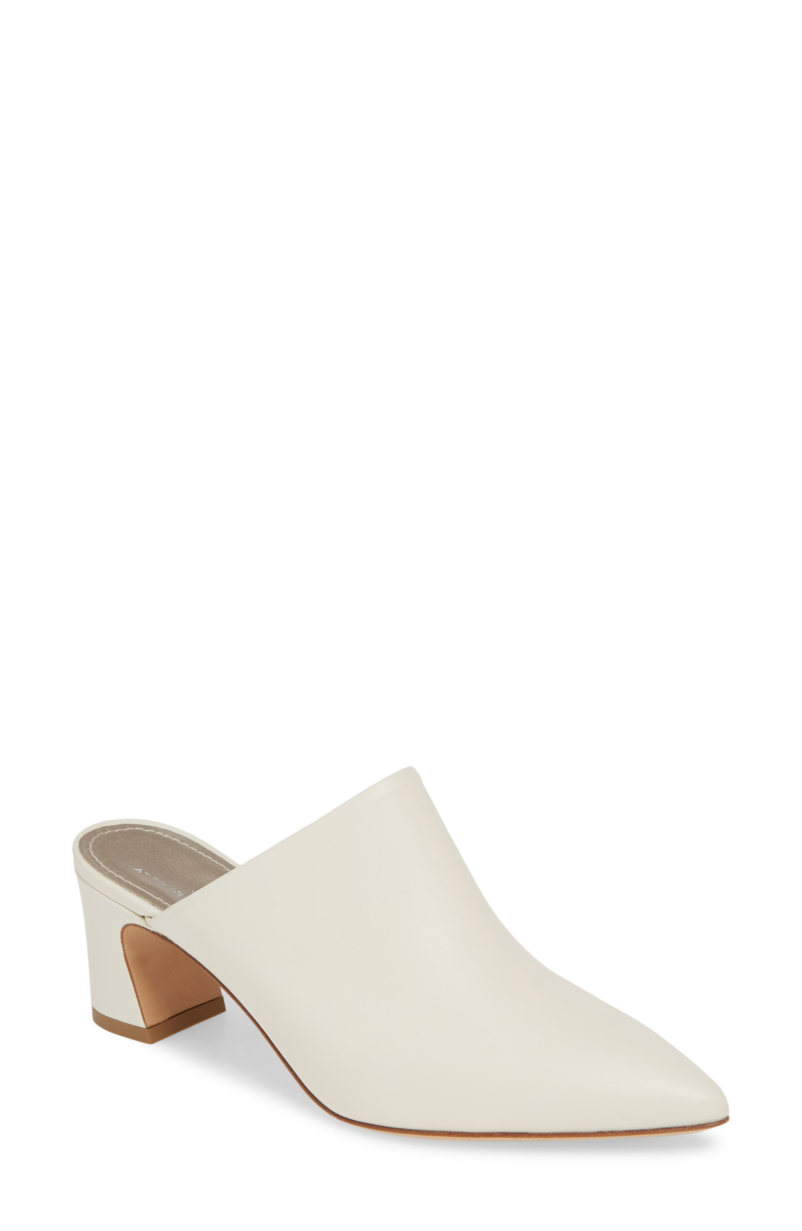 Agl Pointy Toe Mule, Ivory