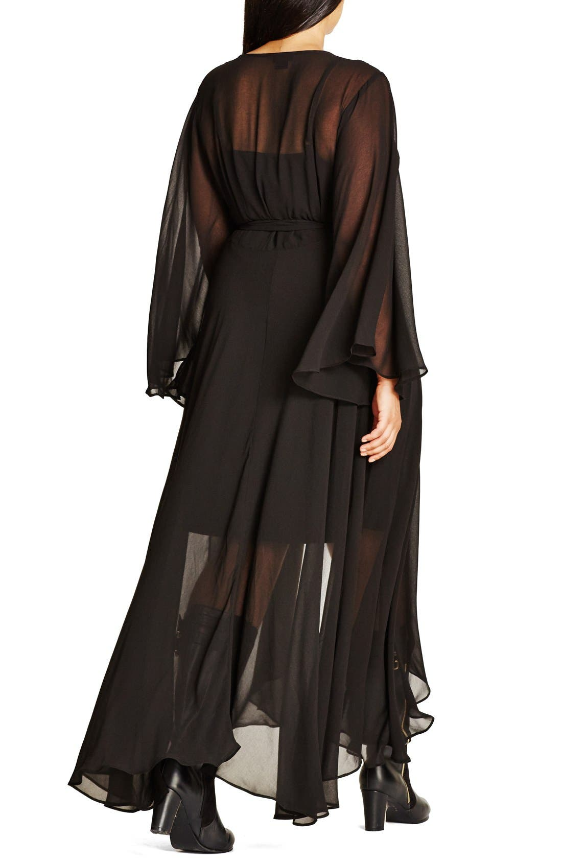 'Fleetwood' Maxi Dress,                             Alternate thumbnail 2, color,                             BLACK
