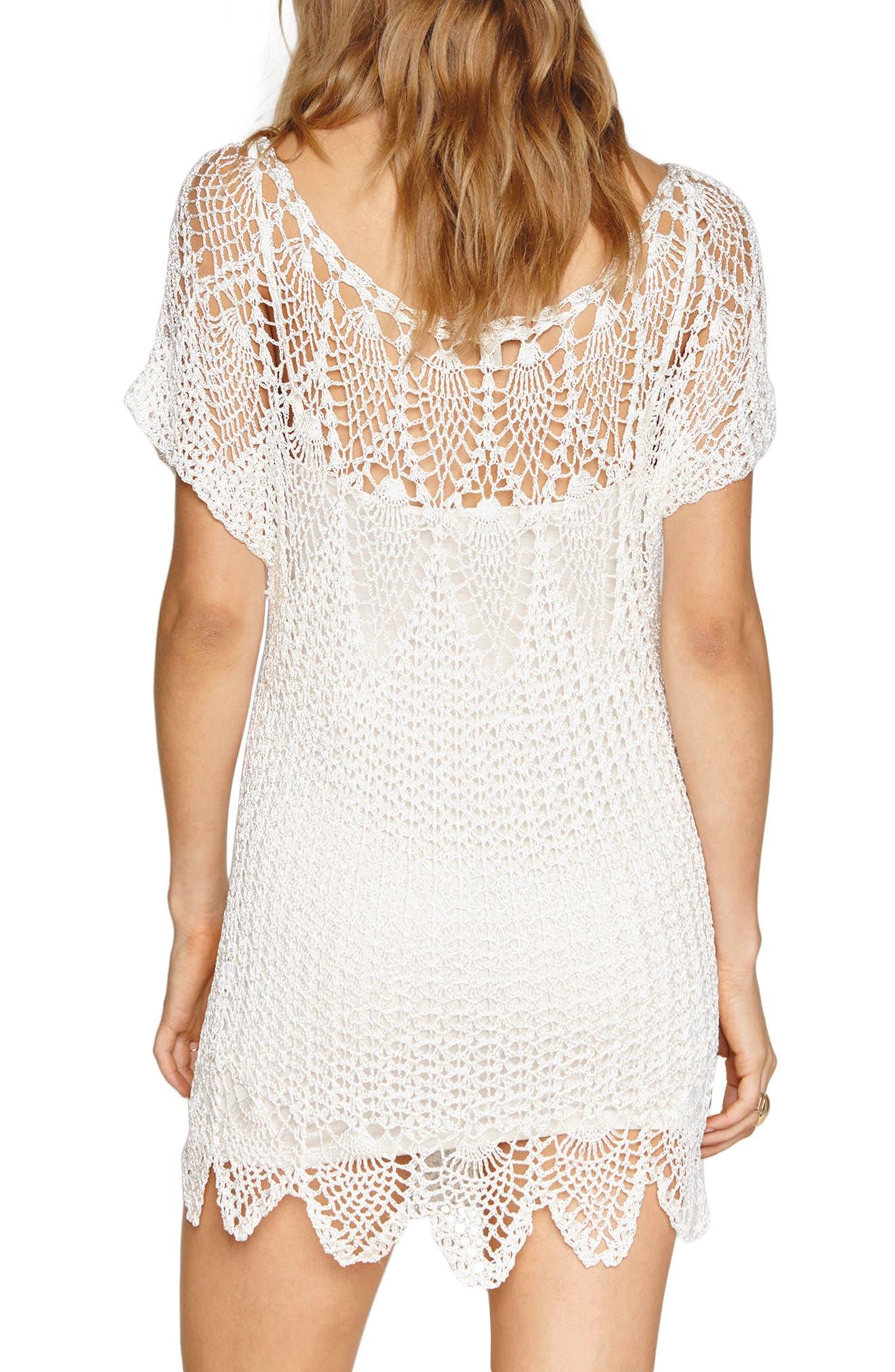 Amuse Sociey Honora Crochet Dress,                             Alternate thumbnail 2, color,