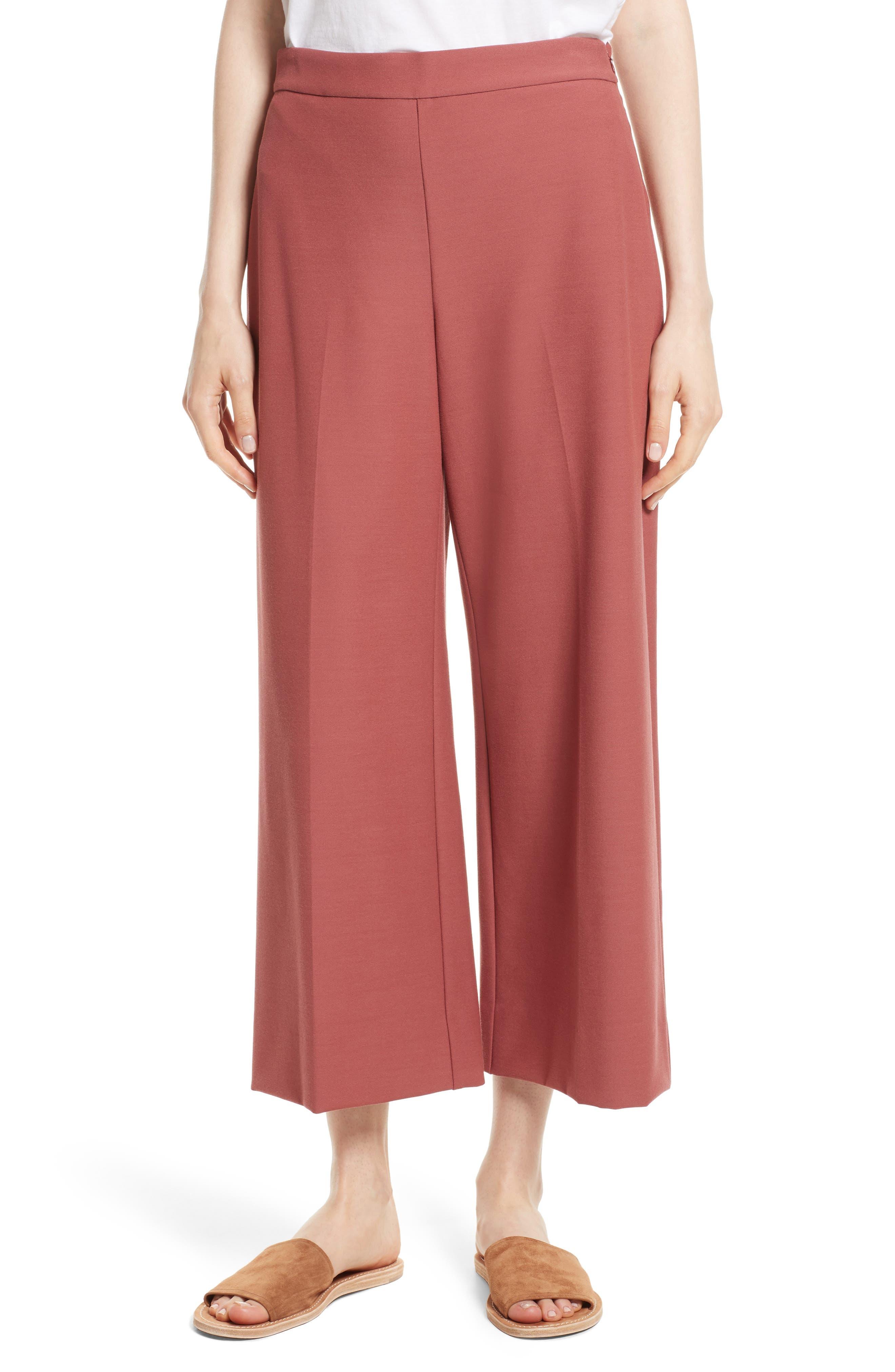 Stretch Suiting Crop Pants,                         Main,                         color, 950