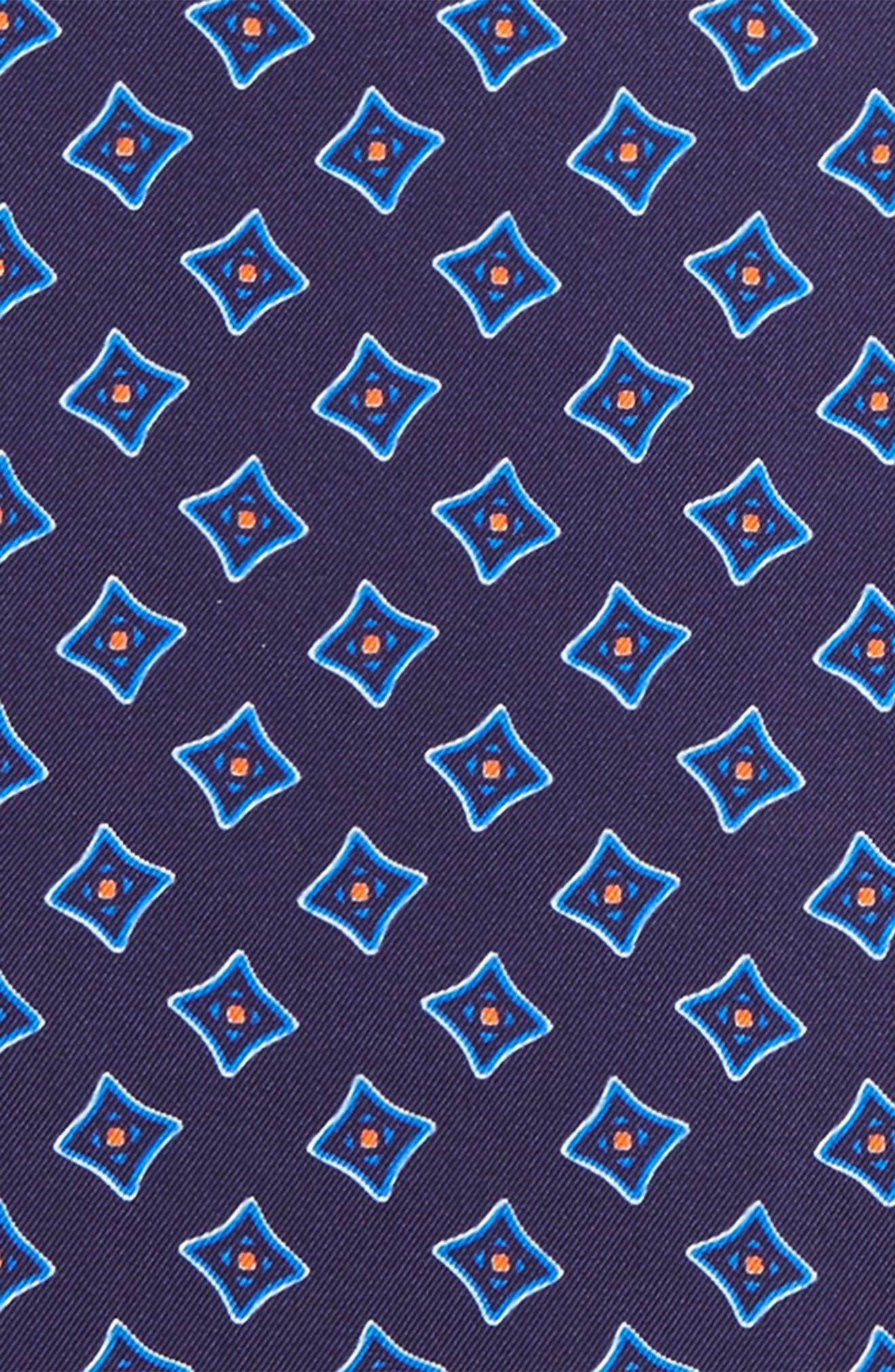 Medallion Silk Pocket Square,                             Alternate thumbnail 8, color,