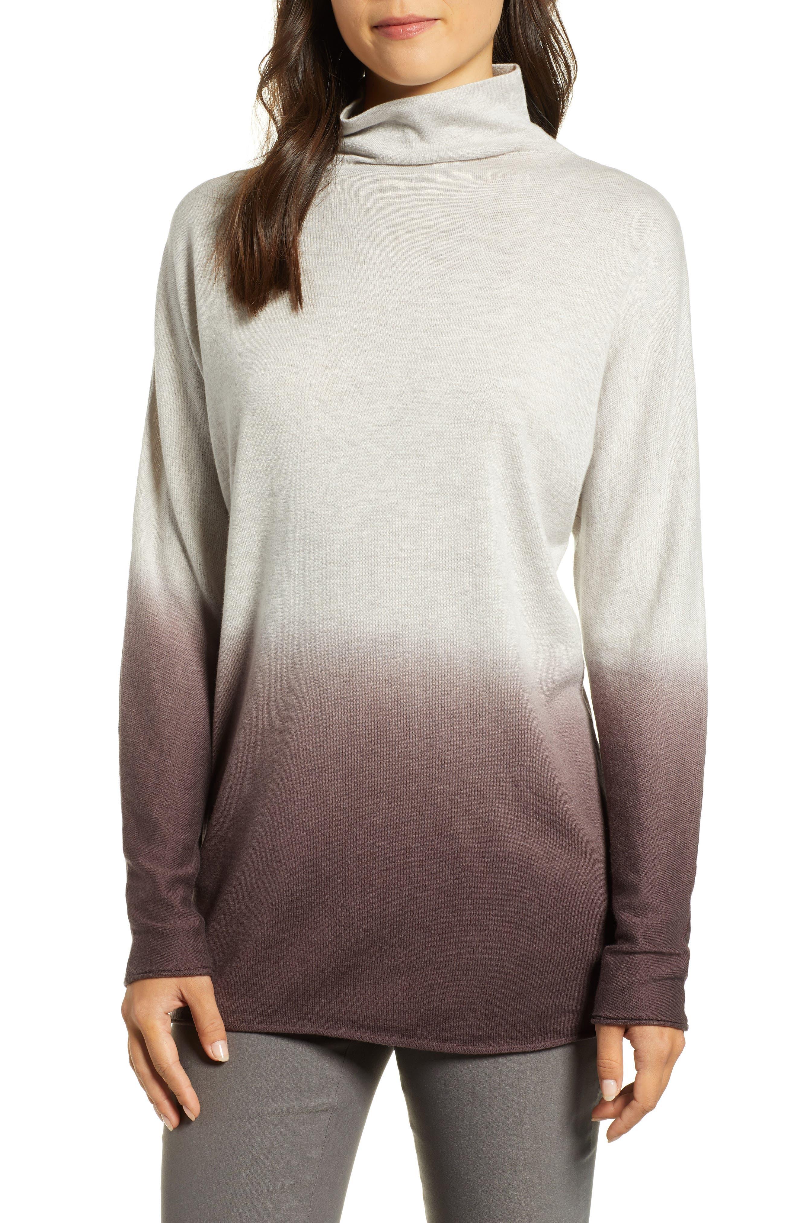 Nic+Zoe Traveler Ombre Tunic Sweater in Plum