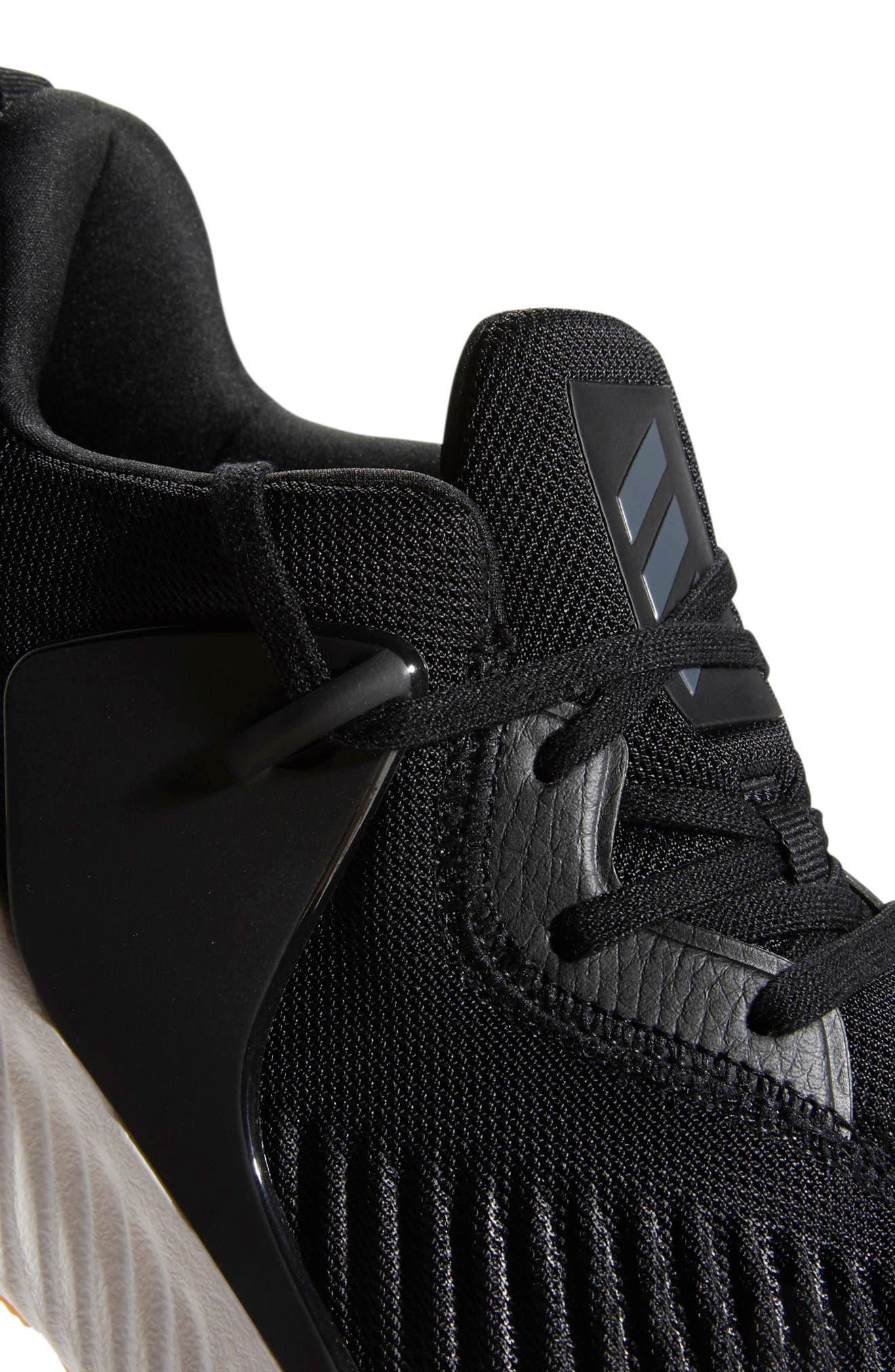 AlphaBounce RC 2 Running Shoe,                             Alternate thumbnail 6, color,                             CORE BLACK/ NIGHT/ CORE BLACK