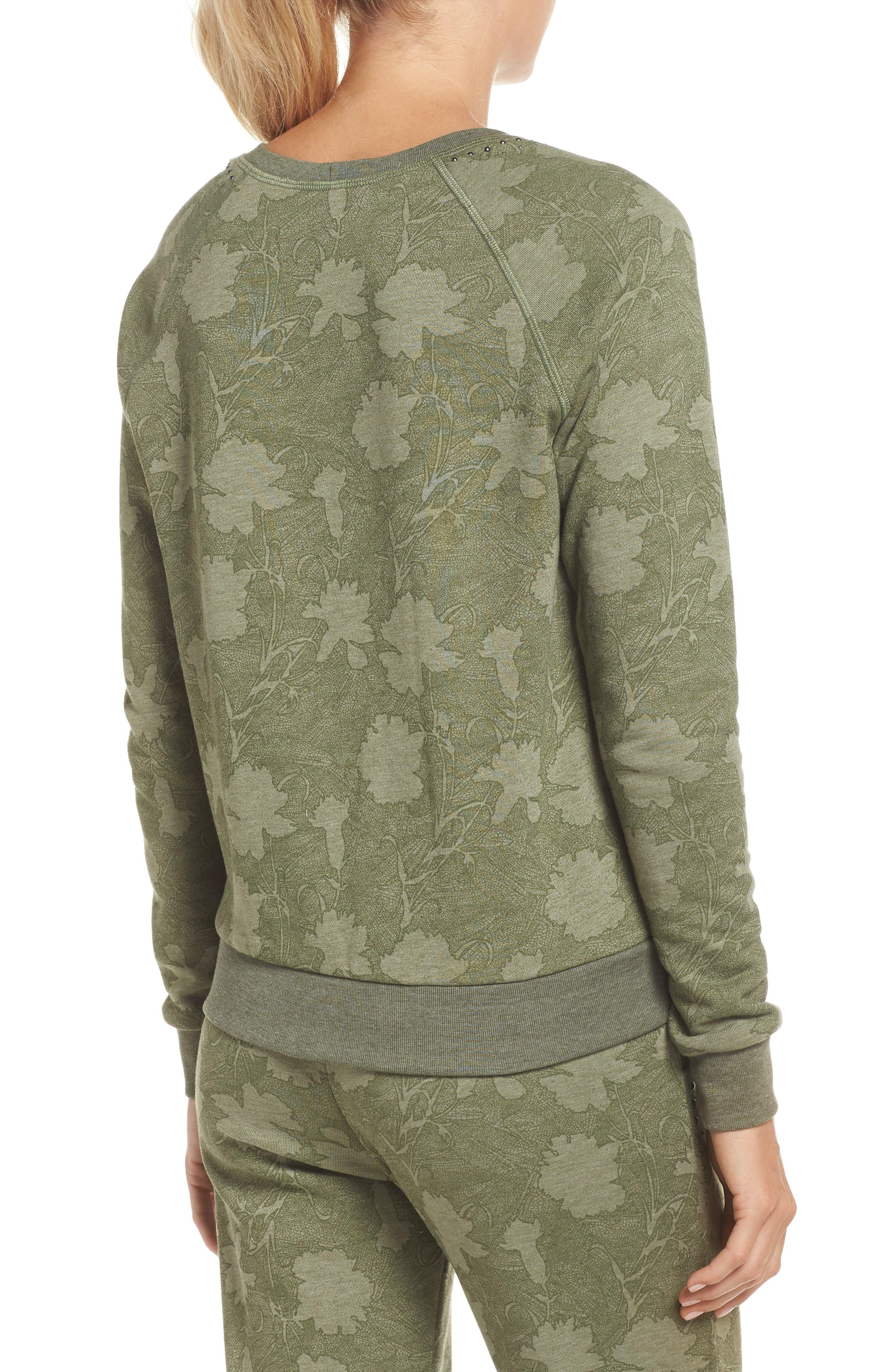 Sleek Leaf Kale Sweatshirt,                             Alternate thumbnail 2, color,                             GREEN