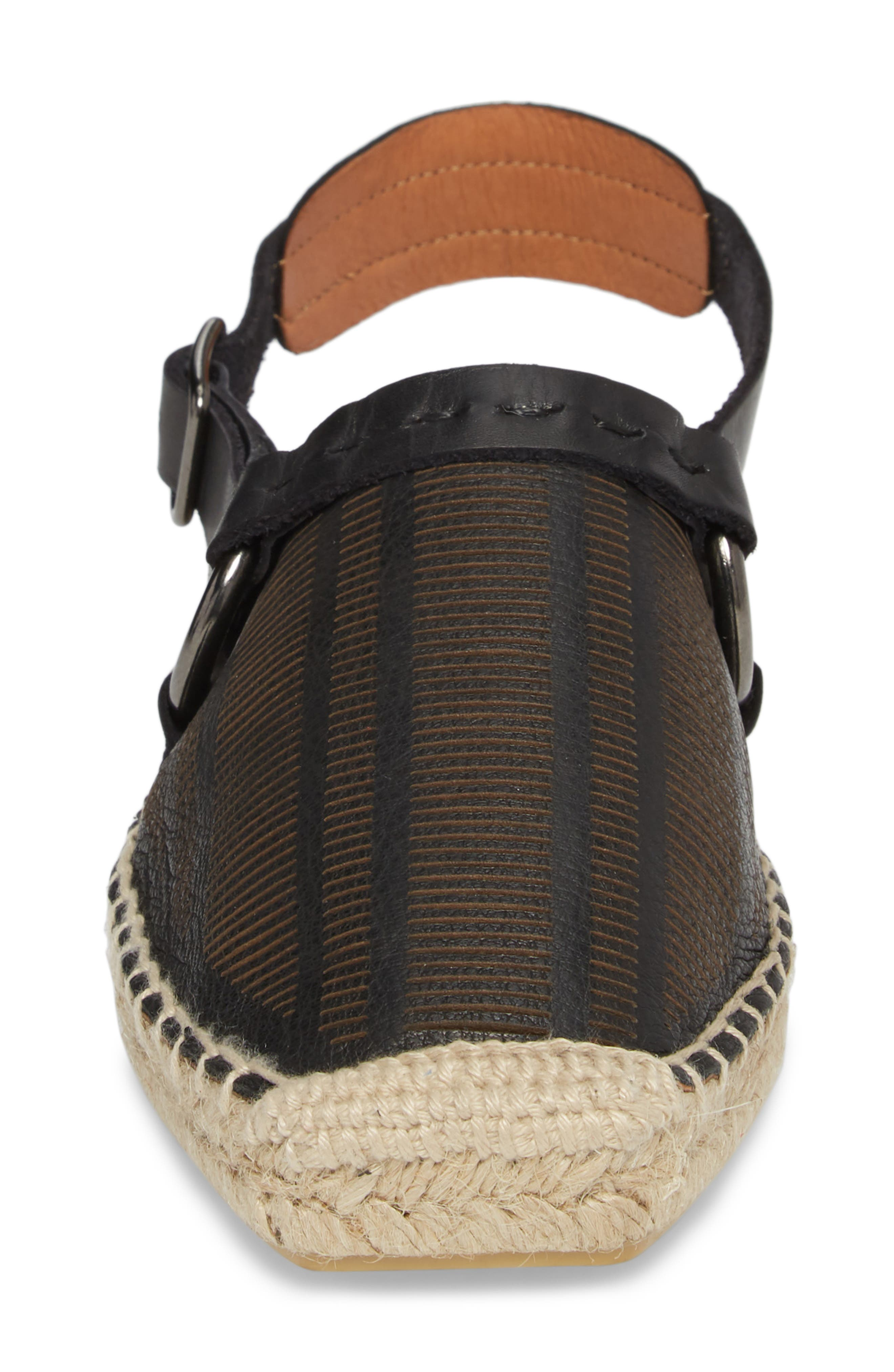 FREE PEOPLE,                             Cabo Espadrille Flat,                             Alternate thumbnail 4, color,                             001
