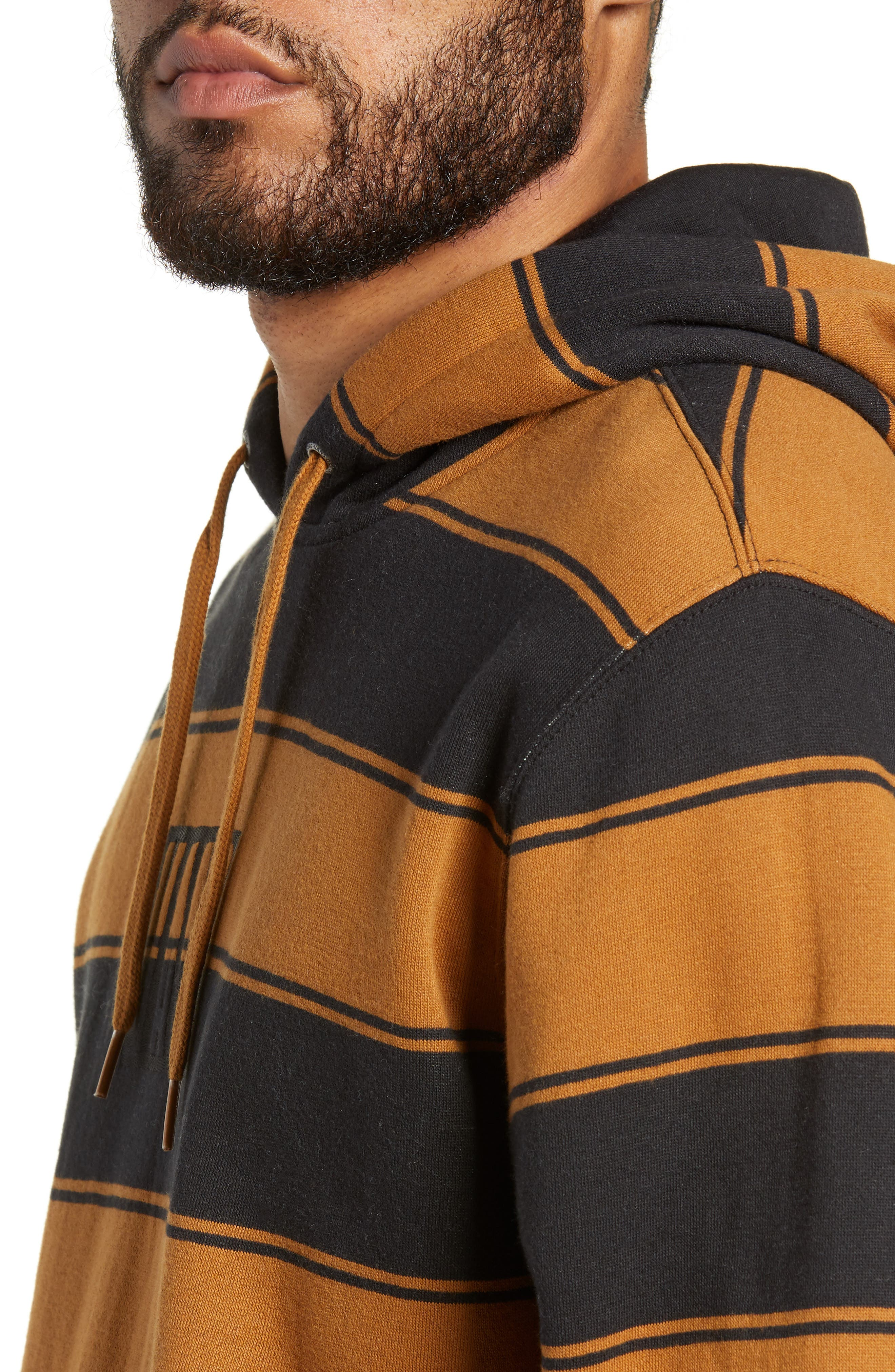 Tall Box Stripe Hoodie Sweatshirt,                             Alternate thumbnail 4, color,                             001