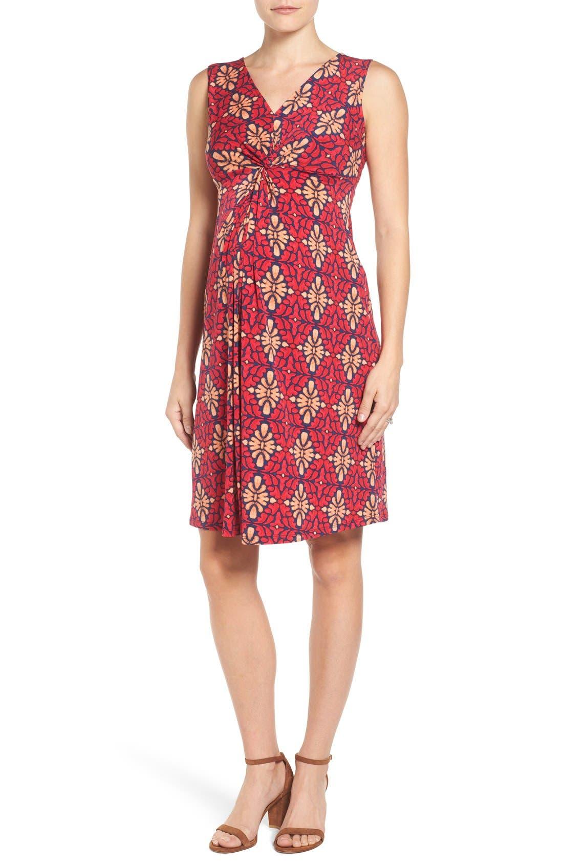 Leota Sleeveless Maternity Dress, Ivory