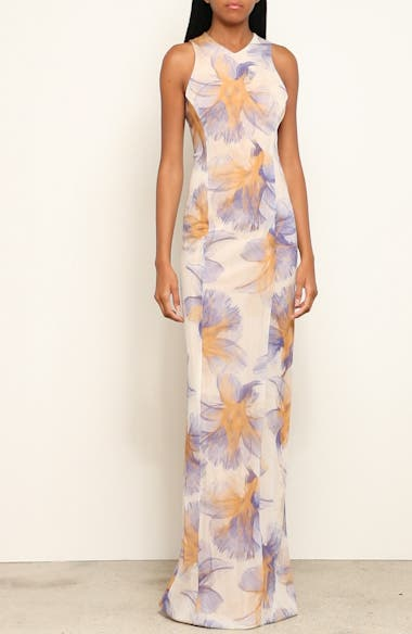 Abstract Floral Print Gown, video thumbnail