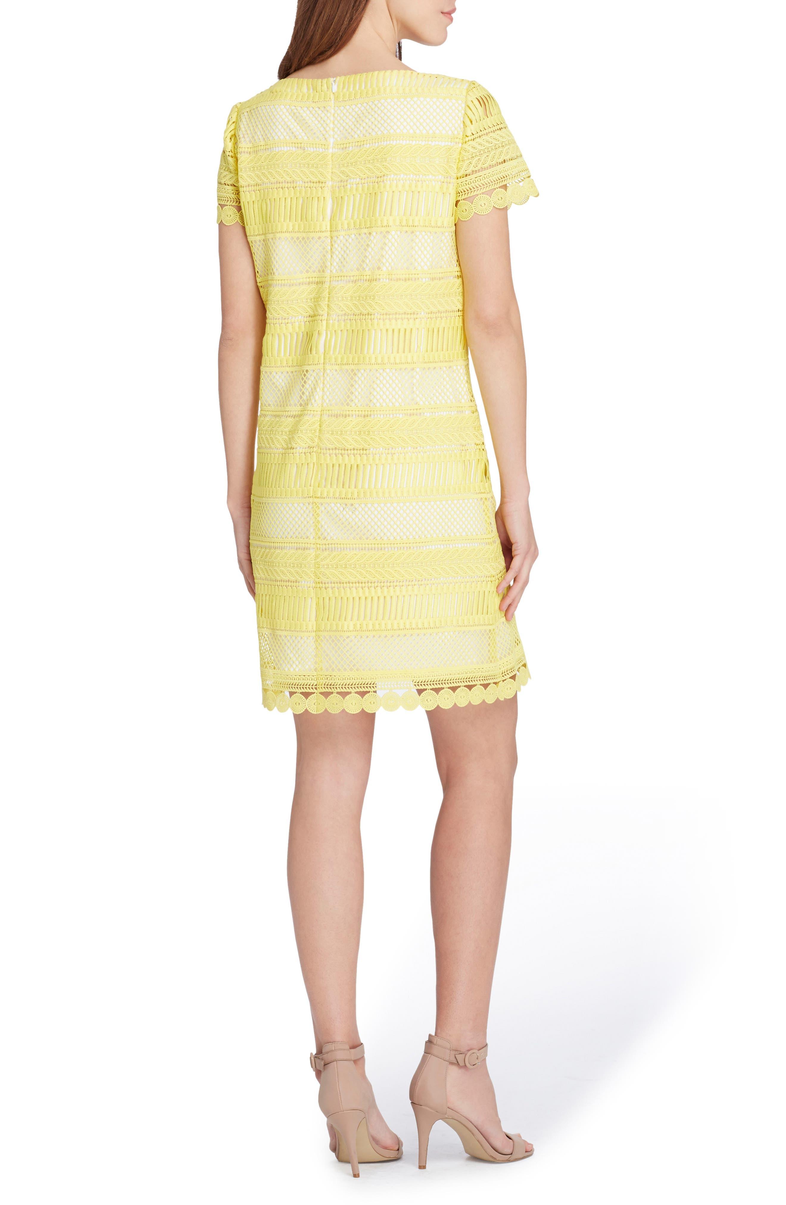 Stripe Lace Sheath Dress,                             Alternate thumbnail 2, color,