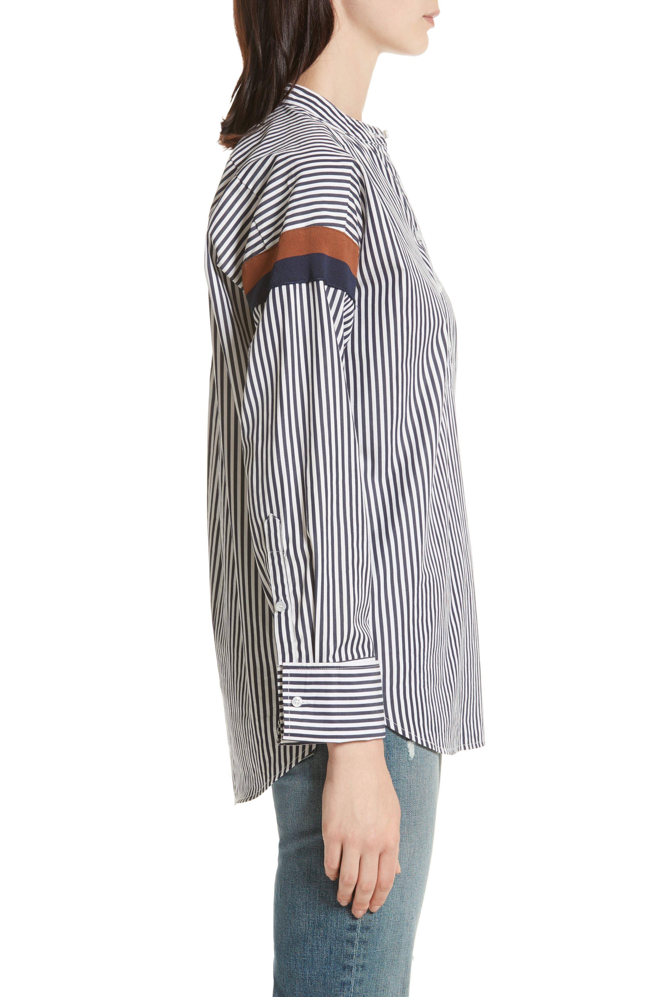 The Wallis Stripe Cotton Shirt,                             Alternate thumbnail 3, color,