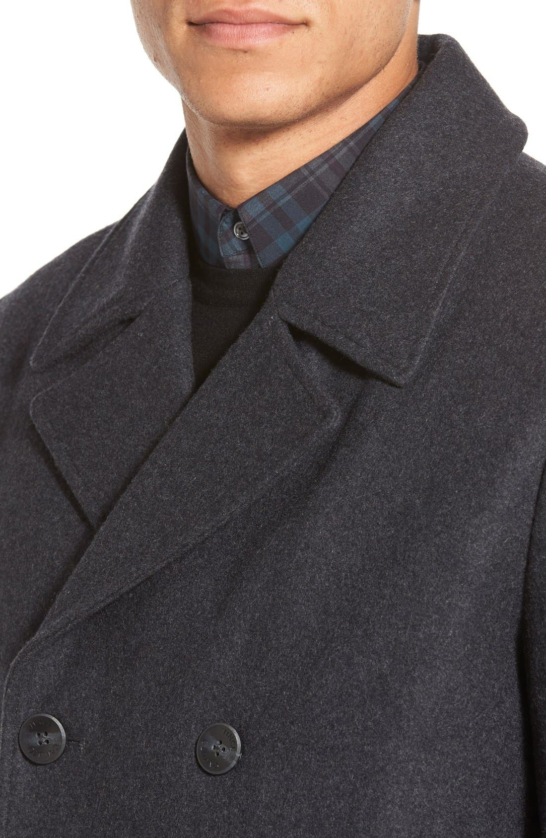 Classic Peacoat,                             Alternate thumbnail 10, color,                             CHARCOAL