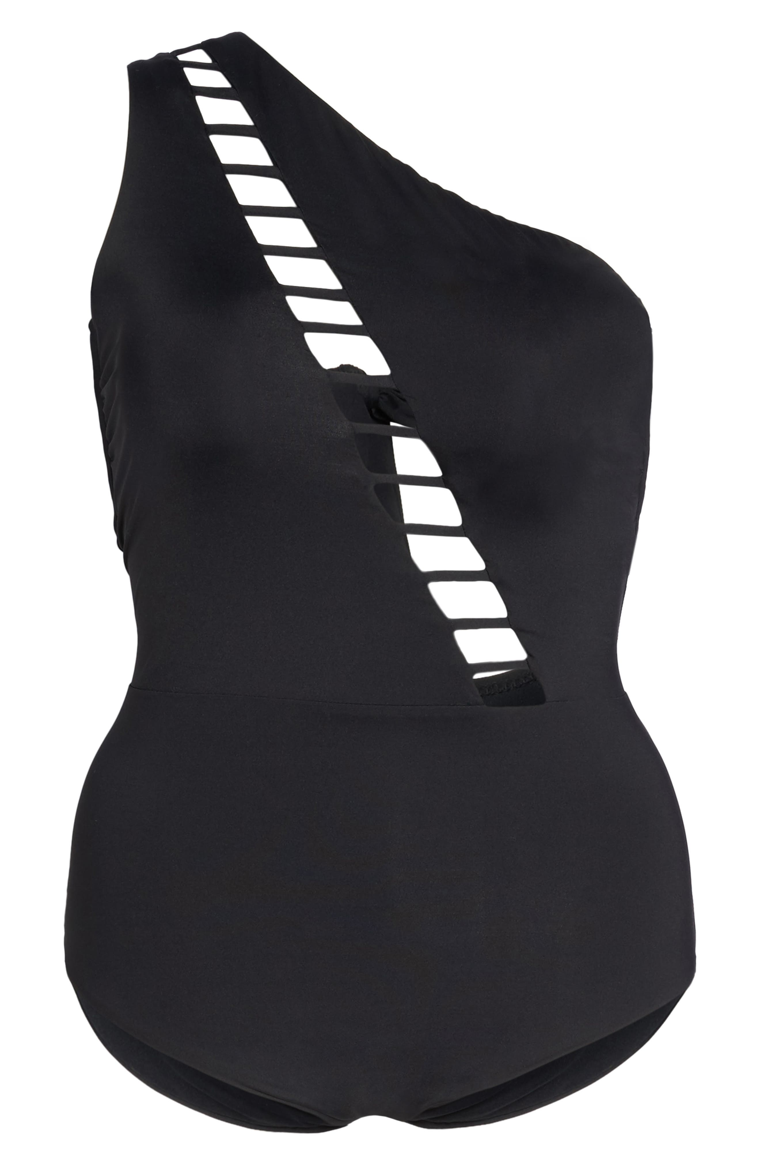 Becca Etc Making the Cut One-Piece Swimsuit,                             Alternate thumbnail 6, color,                             001