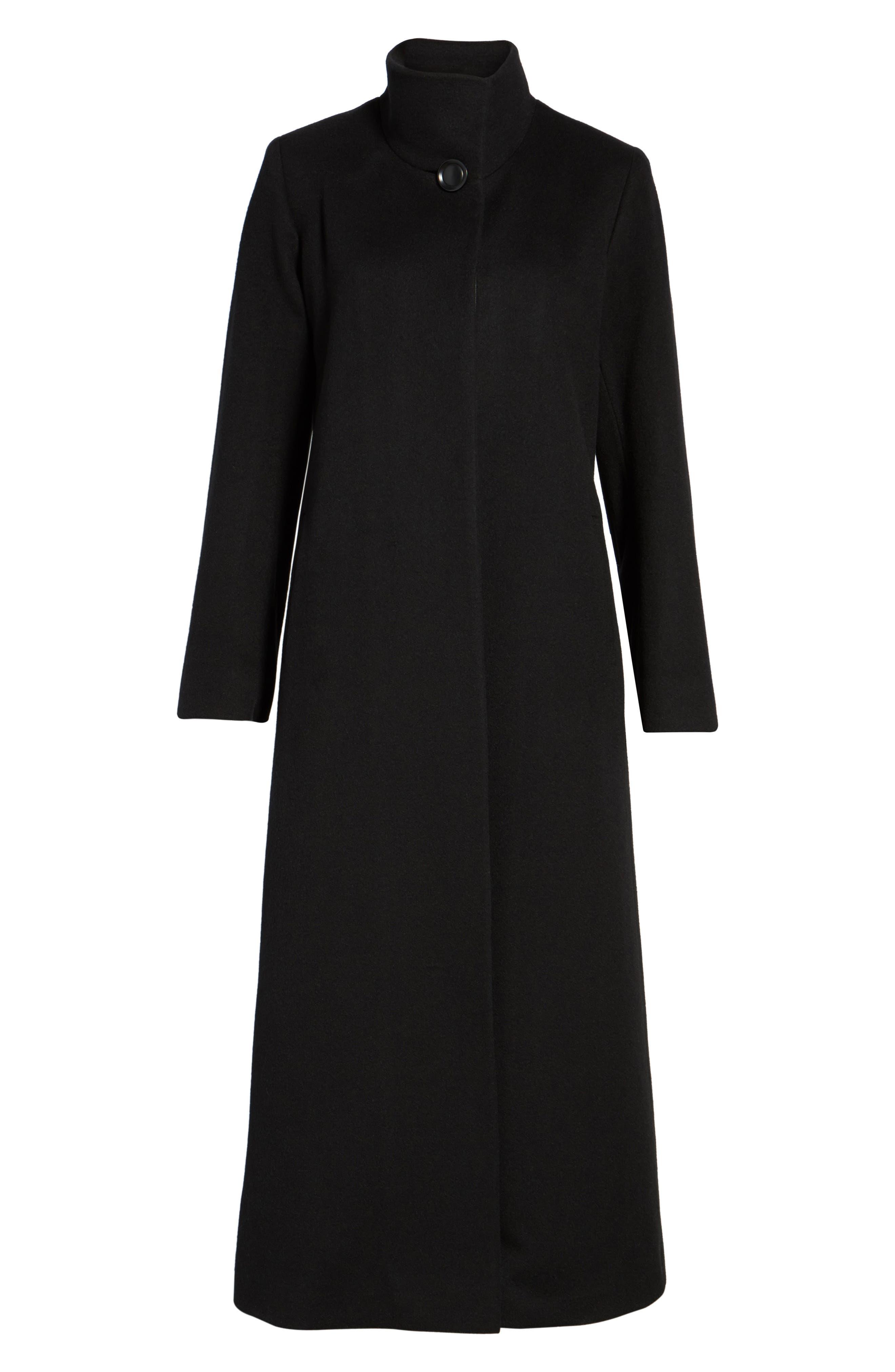 Cashmere Long Coat,                             Alternate thumbnail 5, color,                             001