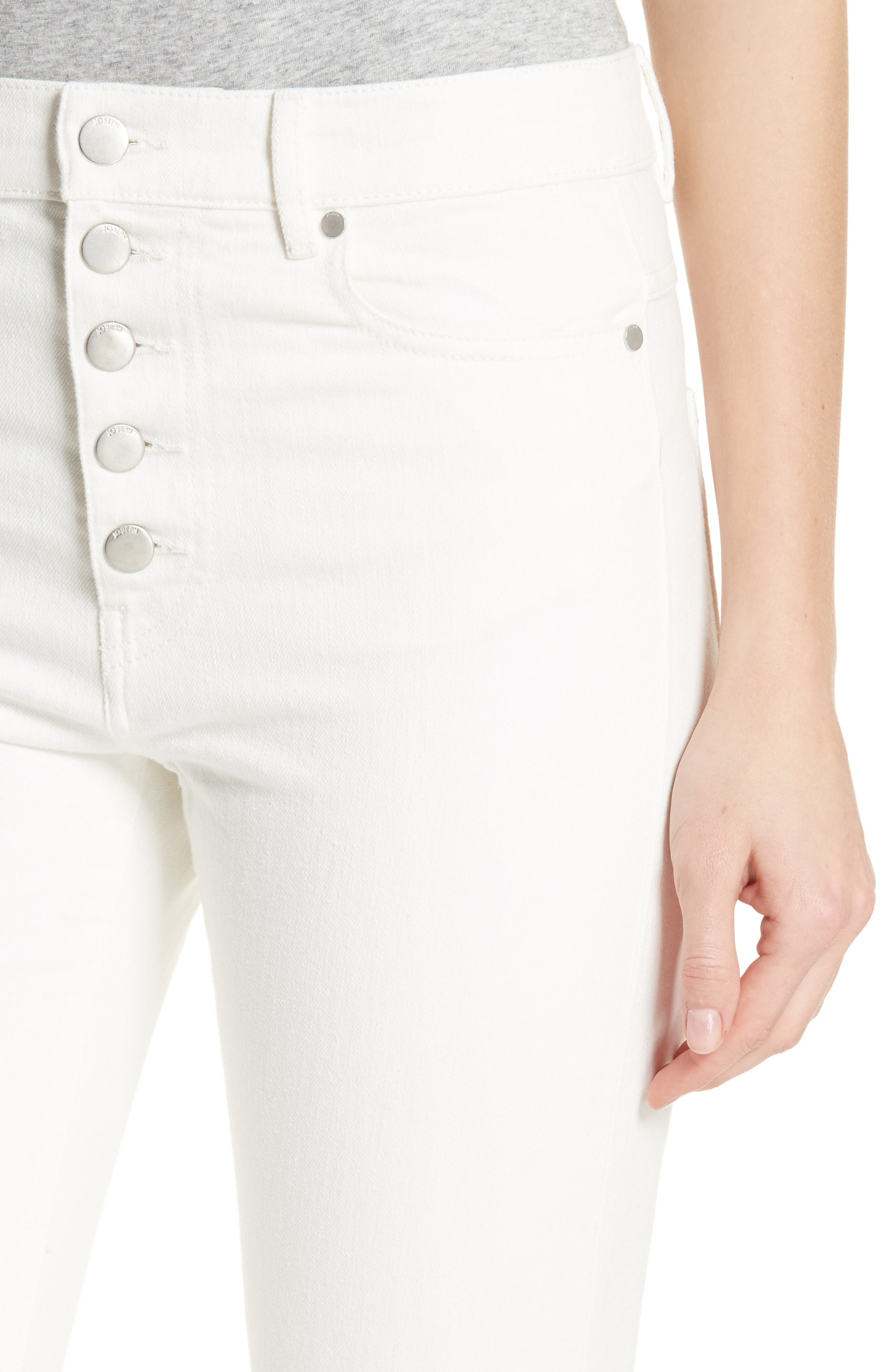 White Denim Jeans,                             Alternate thumbnail 4, color,                             100