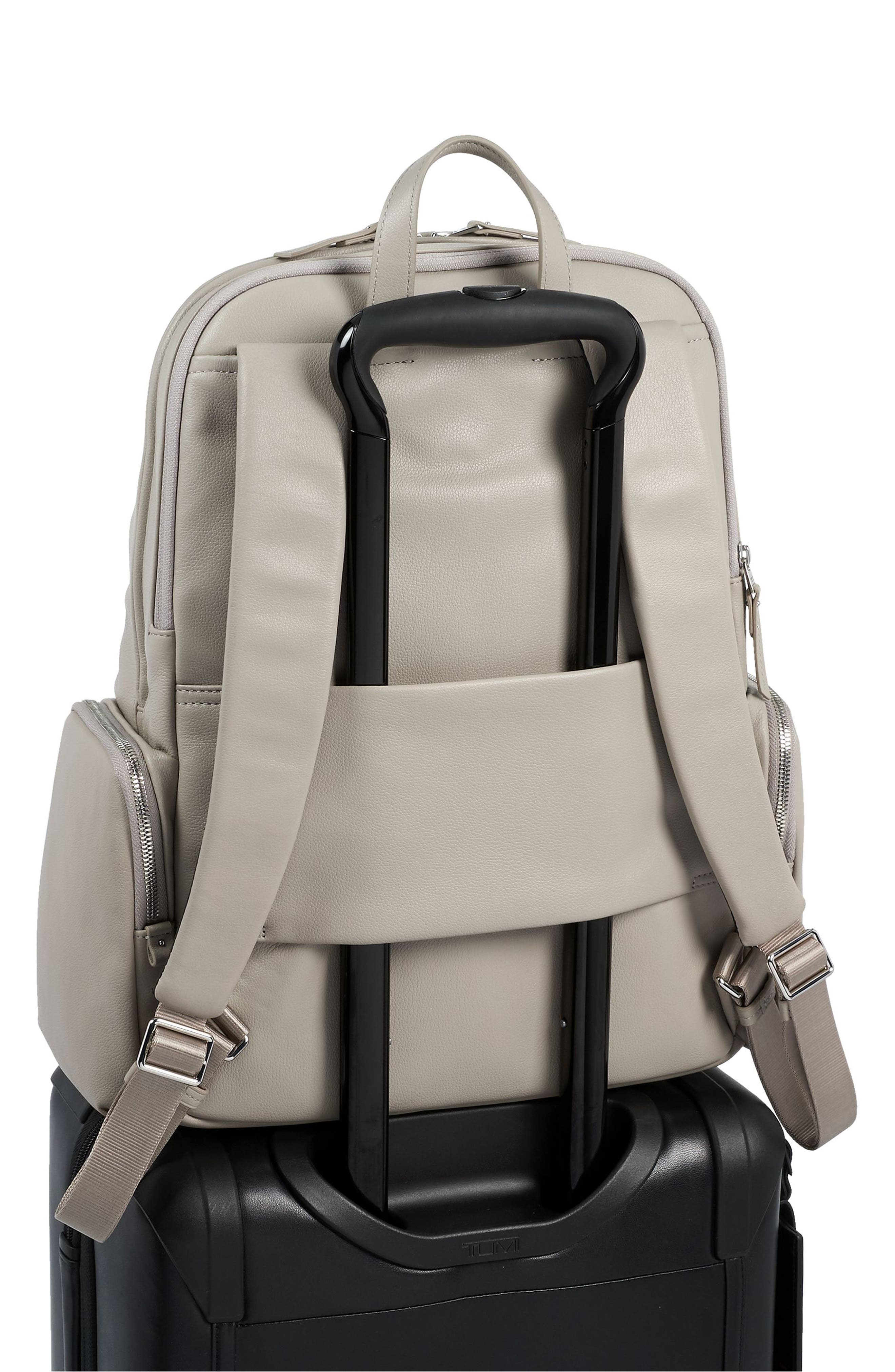 Calais Leather Computer Backpack,                             Alternate thumbnail 6, color,