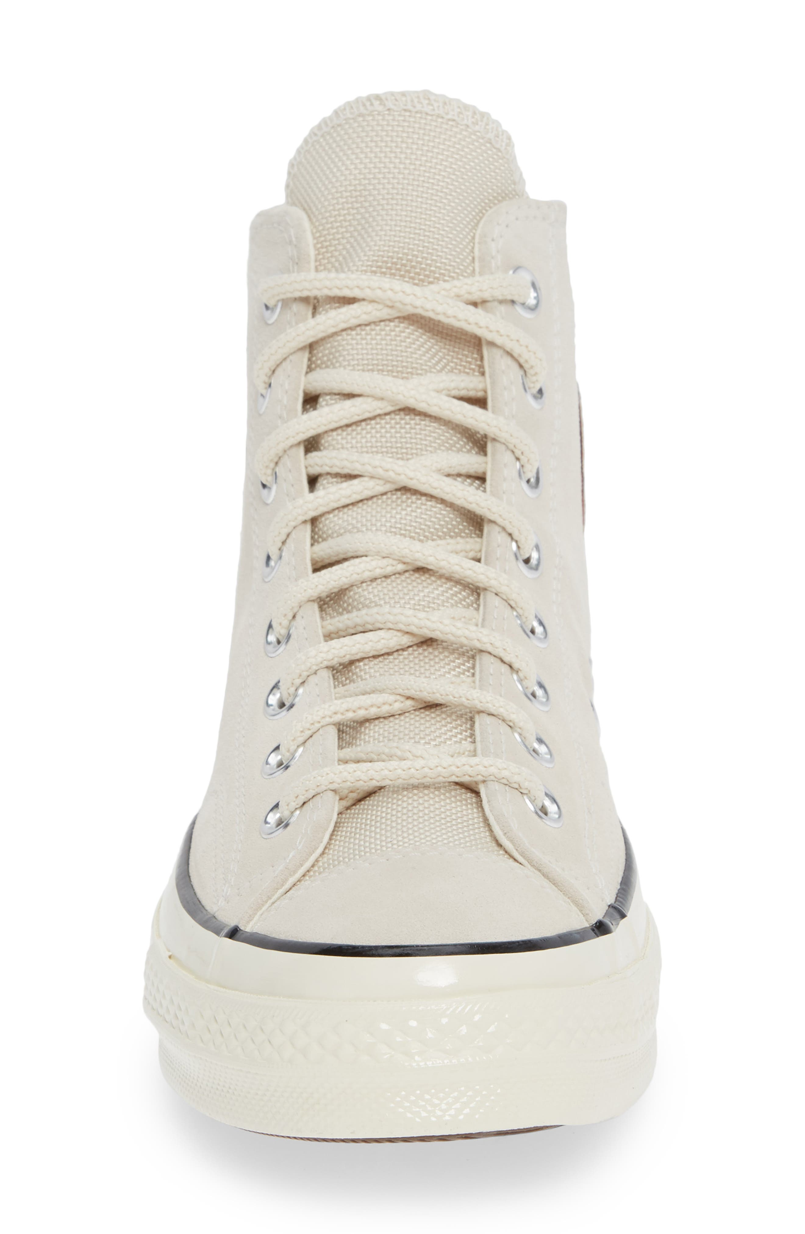Chuck Taylor<sup>®</sup> All Star<sup>®</sup> 70 Base Camp High Top Sneaker,                             Alternate thumbnail 4, color,                             NATURAL IVORY/BLACK
