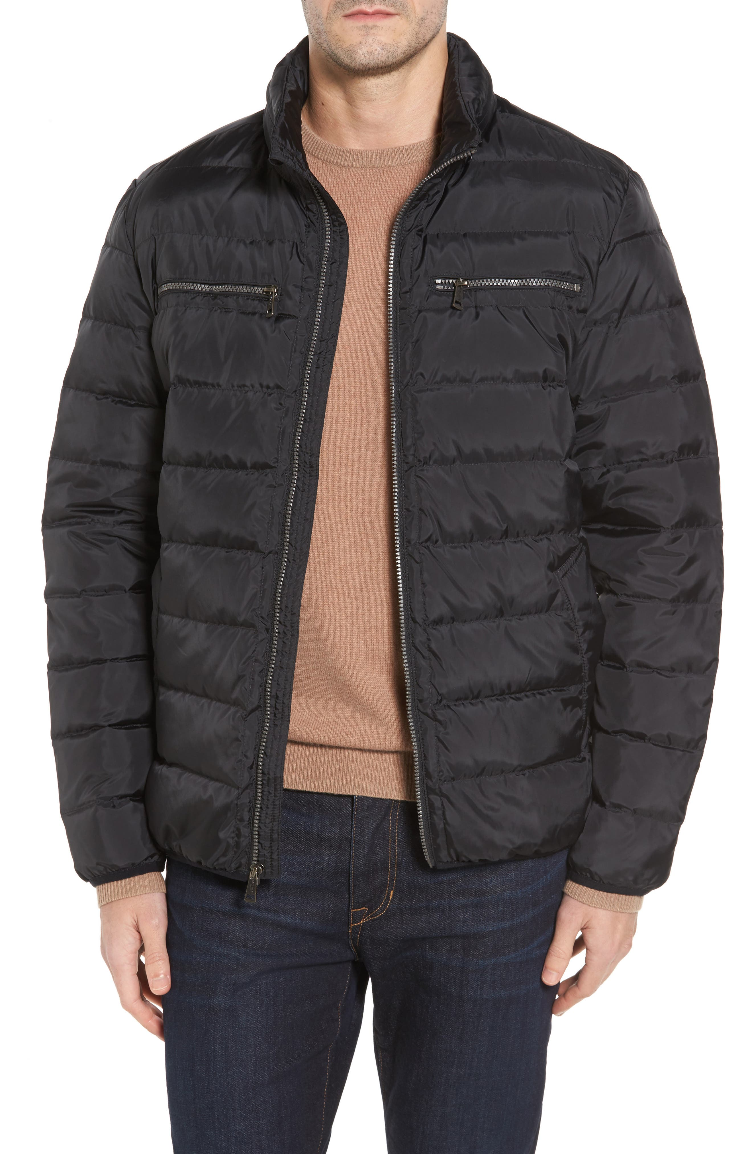 Packable Down Jacket,                             Main thumbnail 1, color,                             BLACK