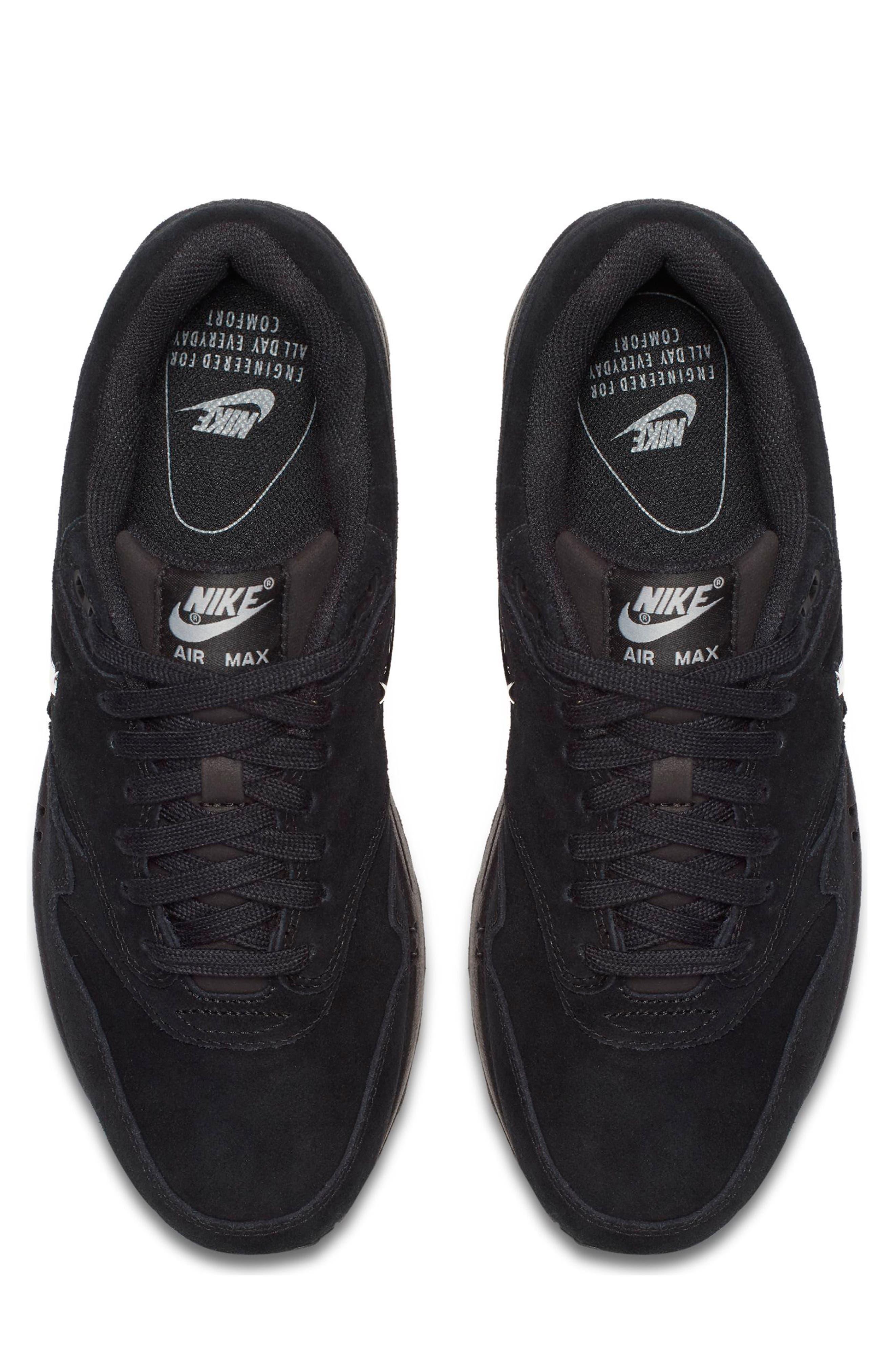 Air Max 1 Premium SC Sneaker,                             Alternate thumbnail 5, color,                             001