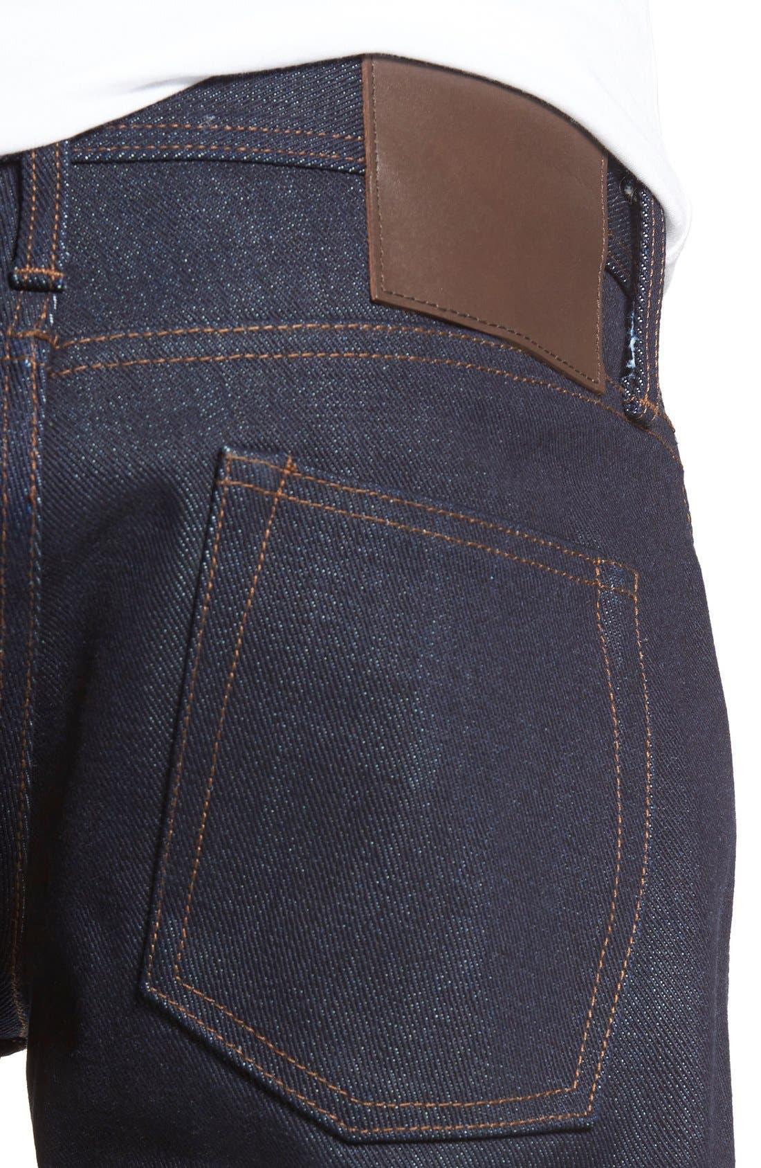 UB121 Selvedge Skinny Fit Jeans,                             Alternate thumbnail 4, color,                             401