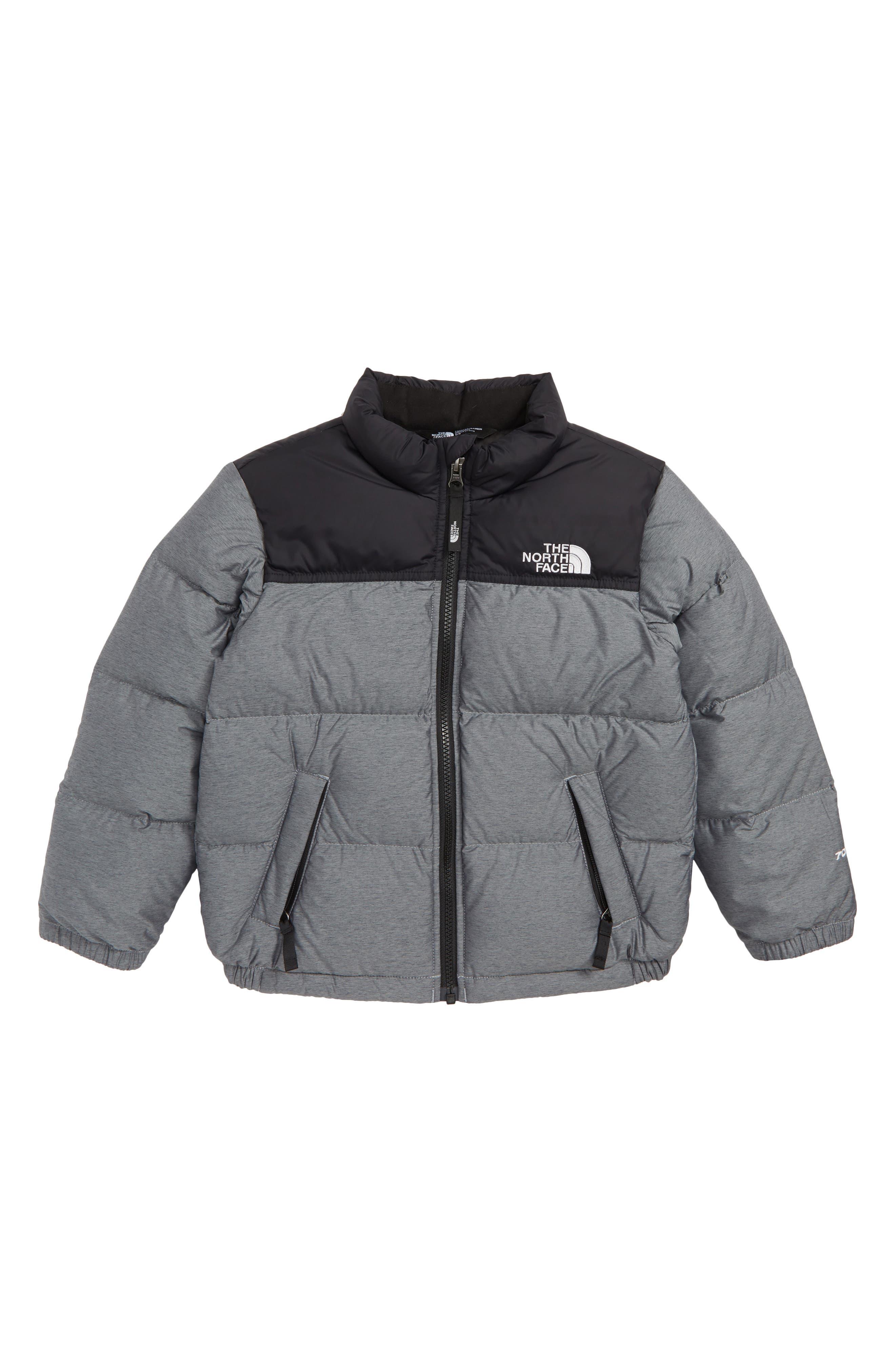 Nuptse 700 Fill Power Down Jacket,                         Main,                         color, HEATHER GREY