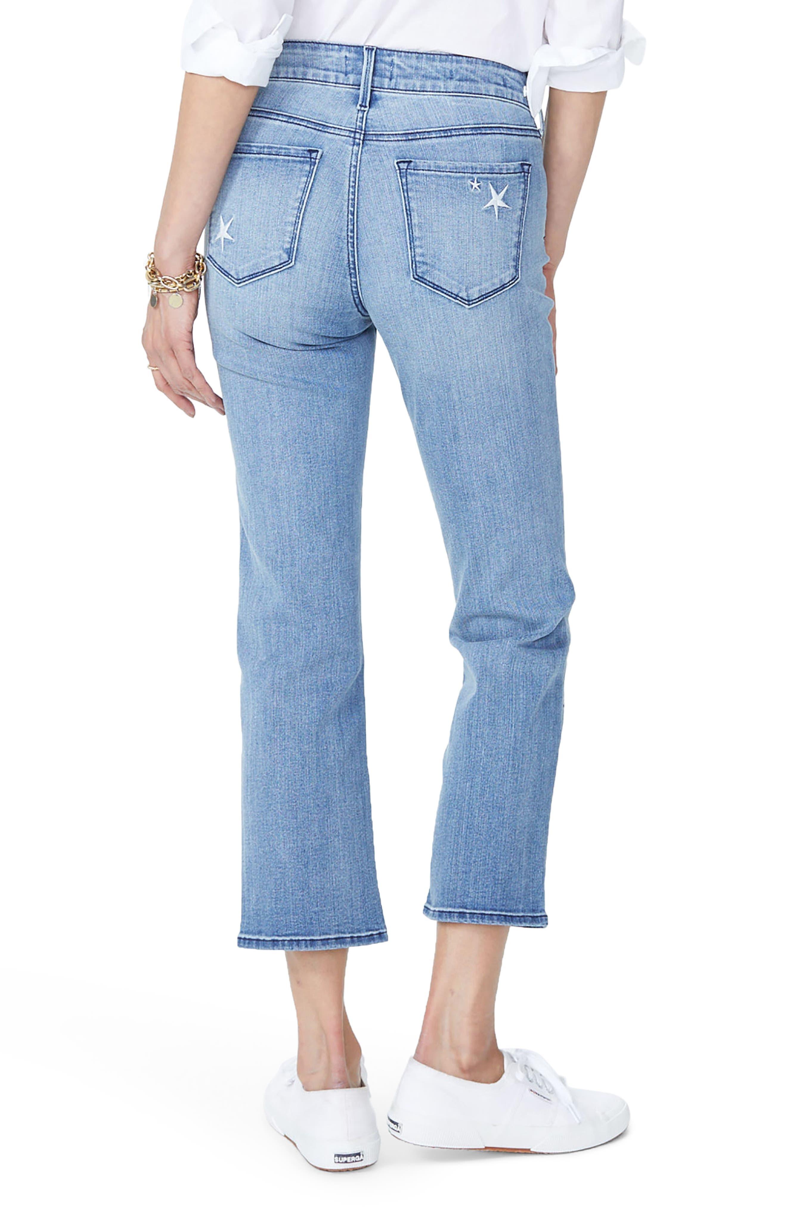 Marilyn High Waist Straight Leg Star Ankle Jeans,                             Alternate thumbnail 2, color,                             POINT DUME