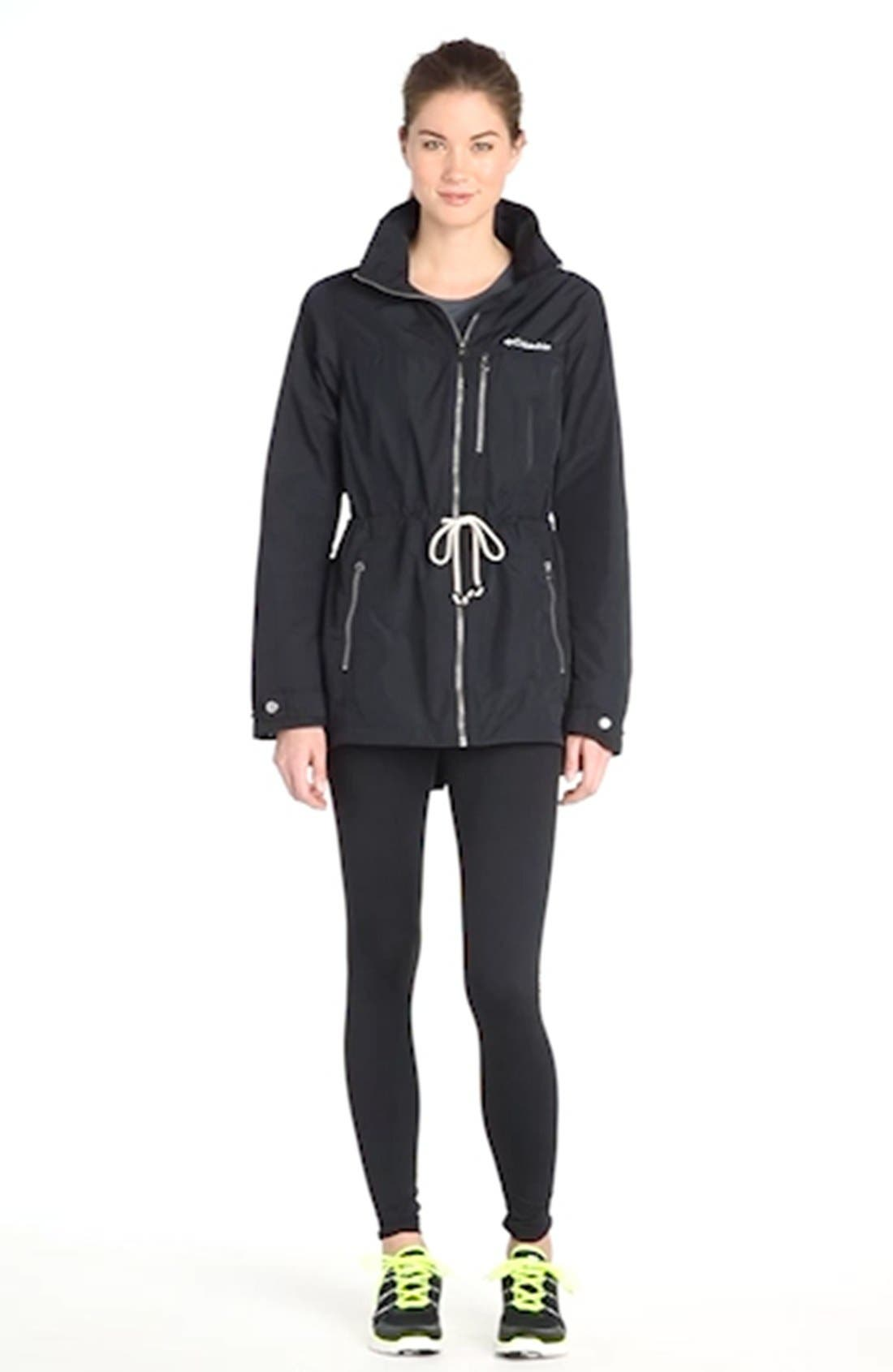 'Suburbanizer' Water Resistant Front Zip Hooded Jacket,                             Alternate thumbnail 2, color,                             001