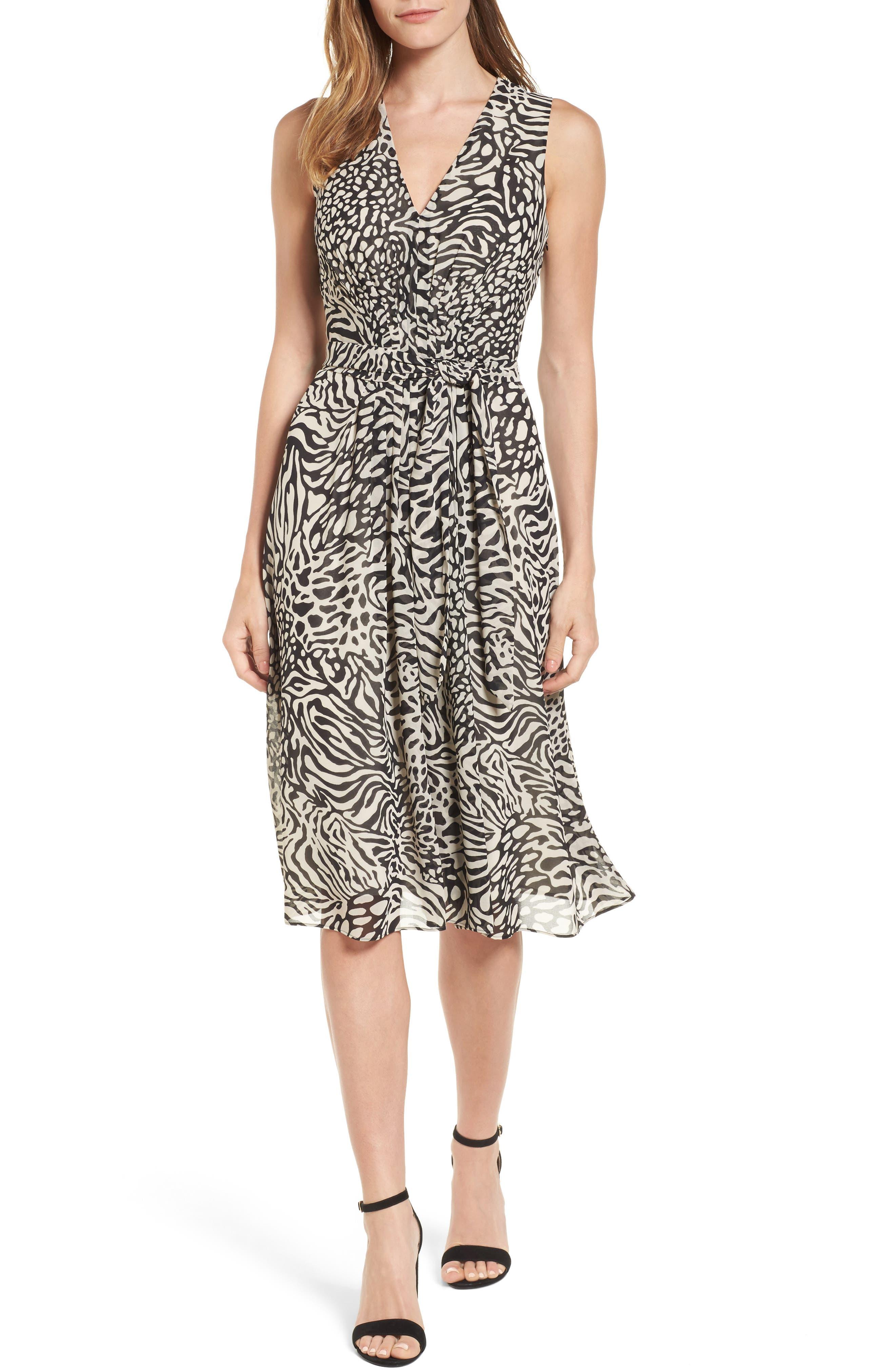 Print A-Line Dress,                         Main,                         color,