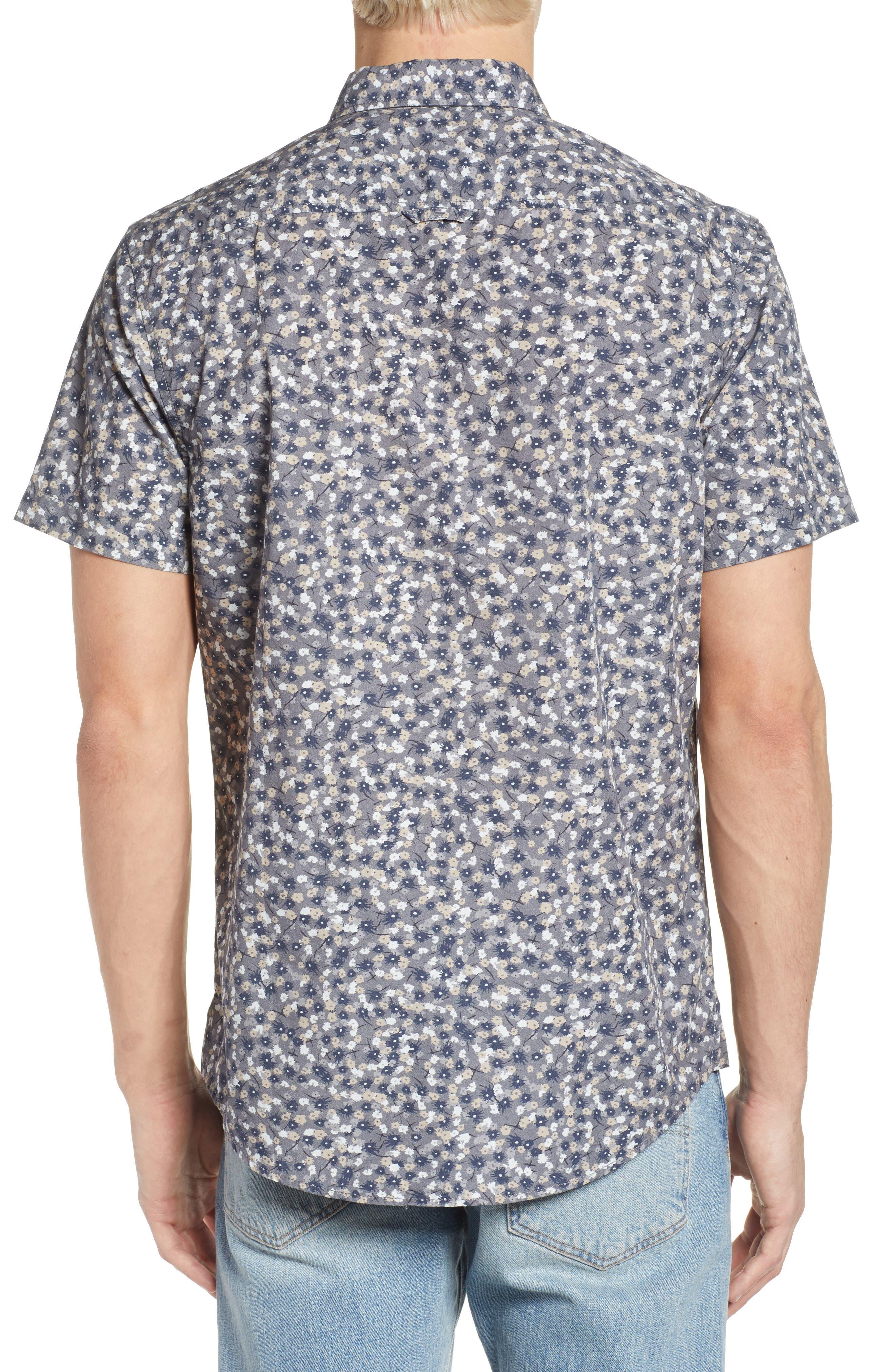 Printed Cotton Poplin Shirt,                             Alternate thumbnail 2, color,                             030