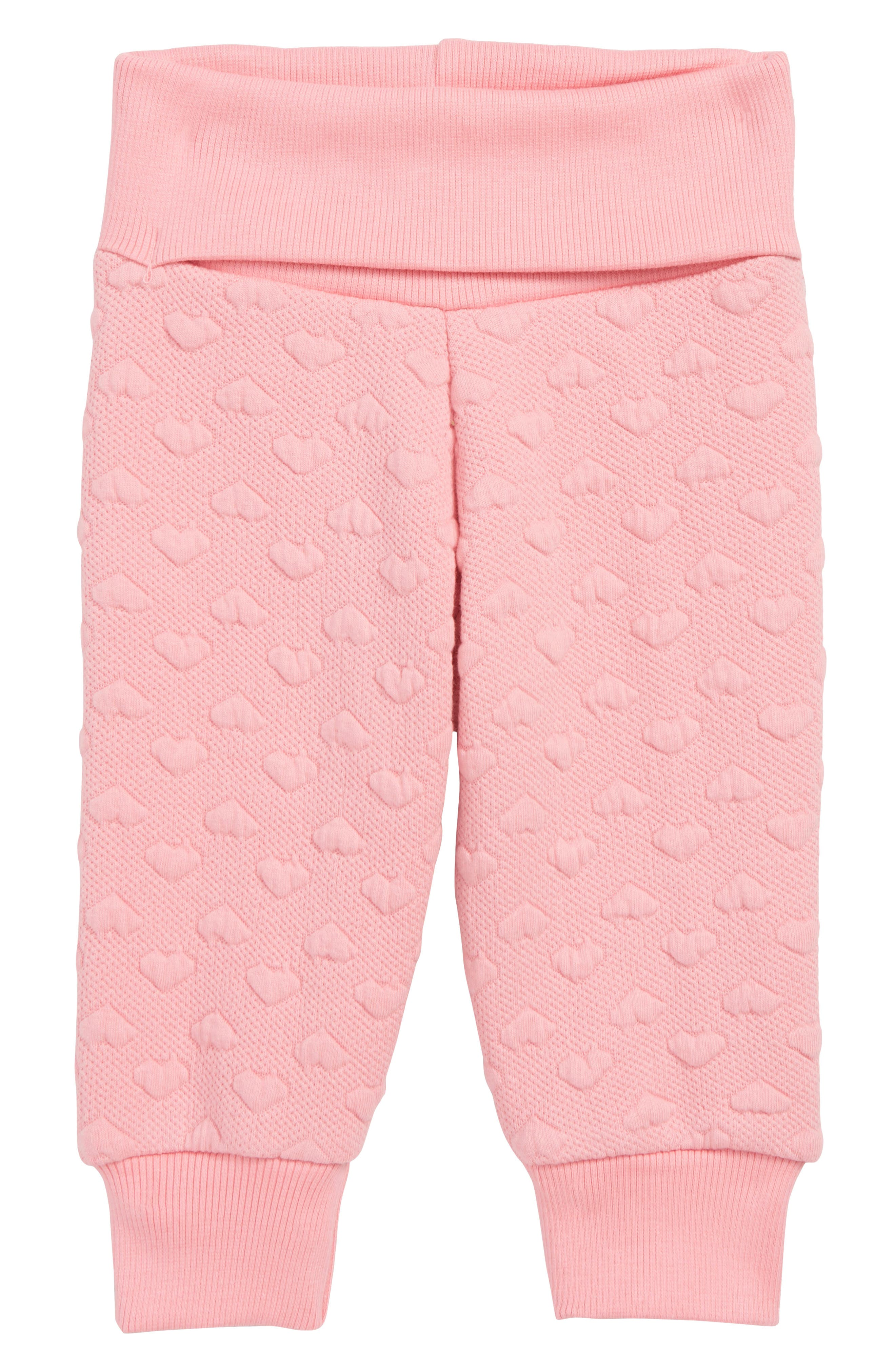 Infant Girls Hatley Quilted Jogger Pants Size 69M  Pink