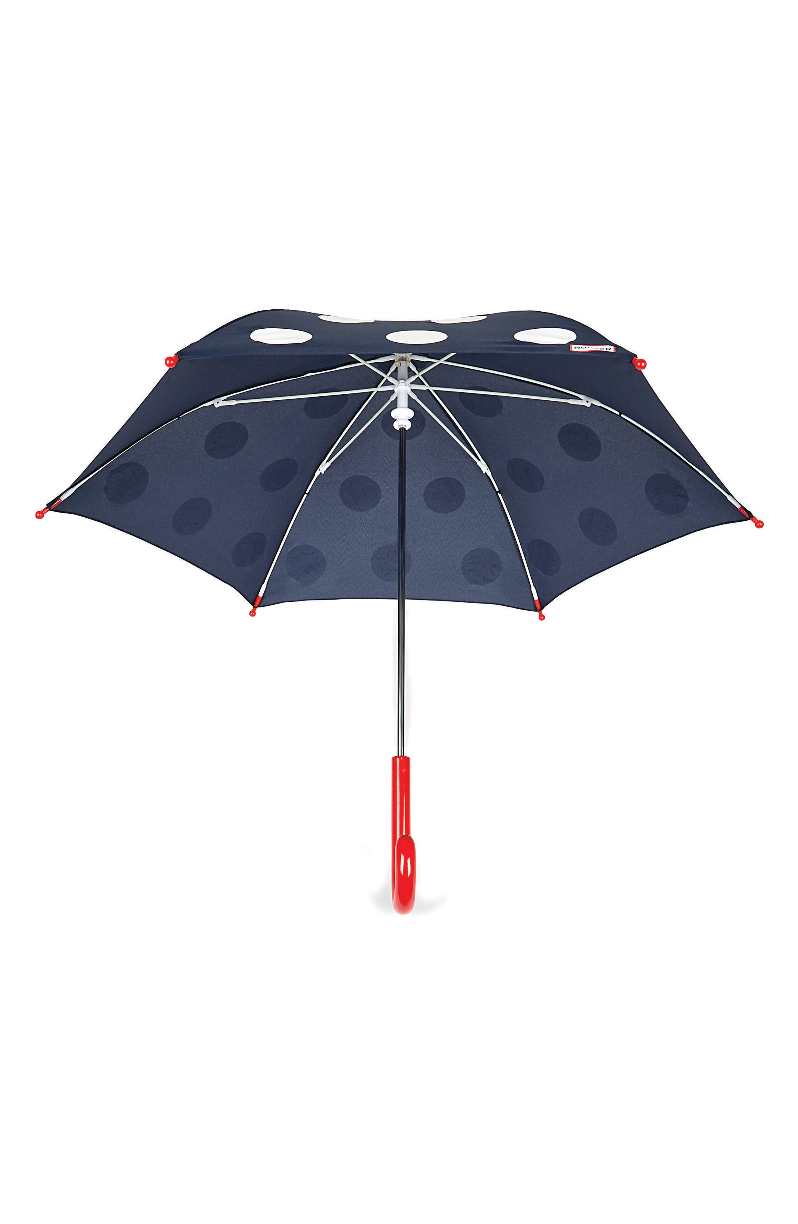 Polka Dot Surprise Umbrella,                             Alternate thumbnail 2, color,                             LADYBIRD PRINT
