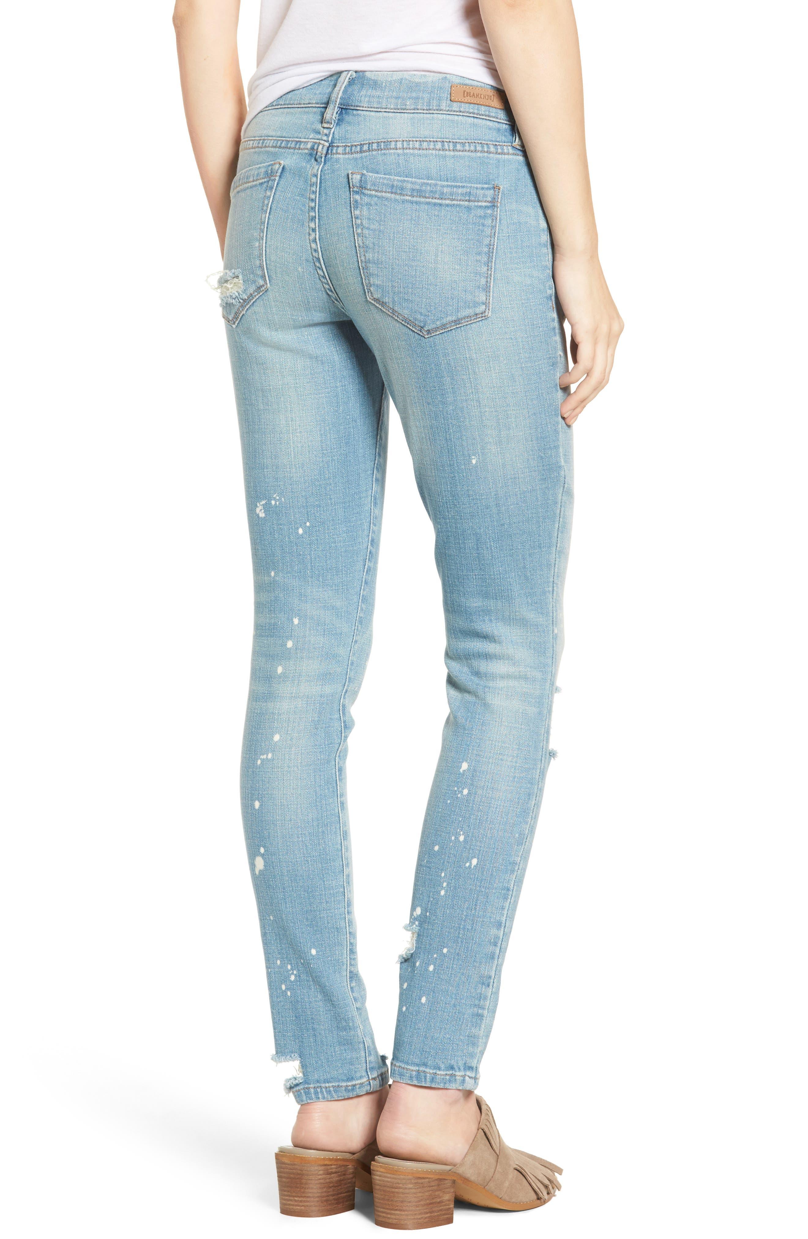 Paint Splatter Skinny Jeans,                             Alternate thumbnail 2, color,                             400