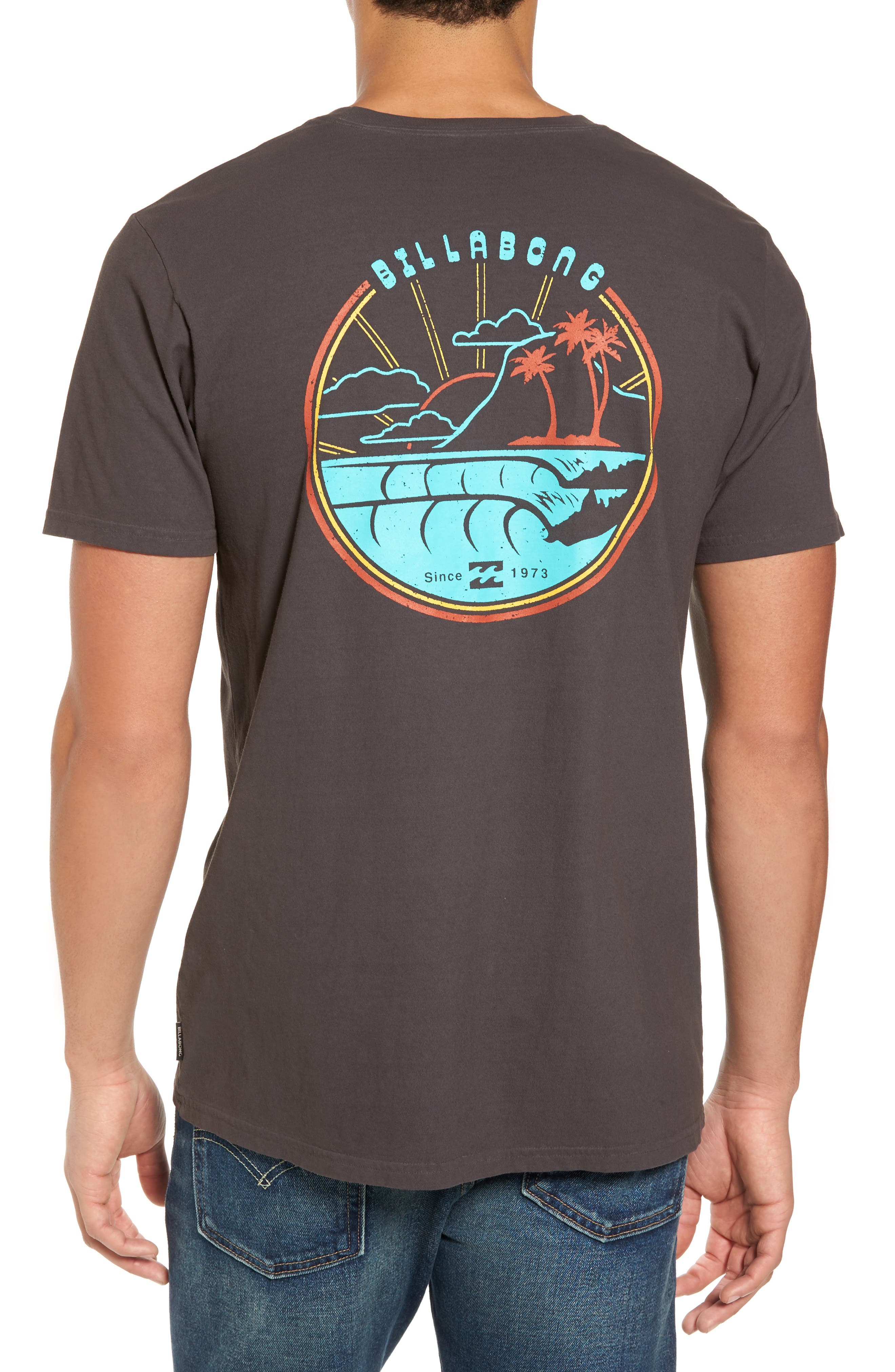 Single Fin Graphic T-Shirt,                             Alternate thumbnail 2, color,                             010