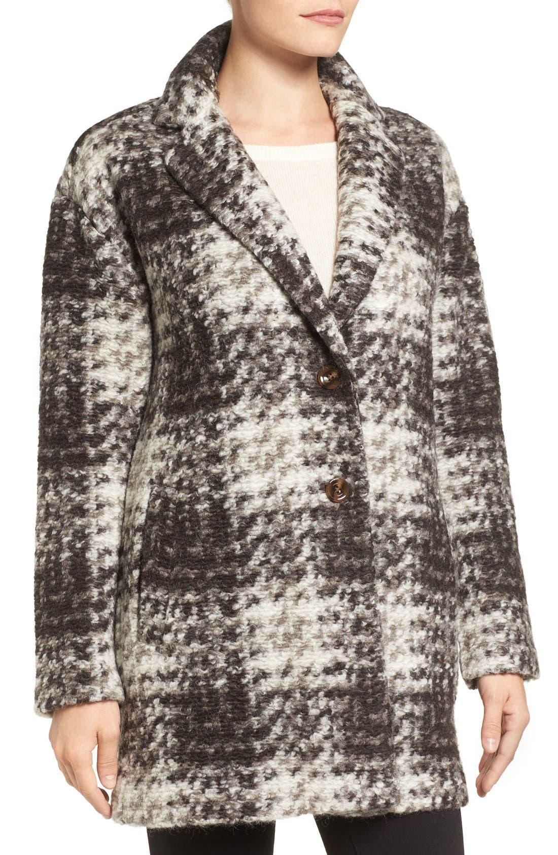 BERNARDO,                             Plaid Sweater Coat,                             Alternate thumbnail 4, color,                             200