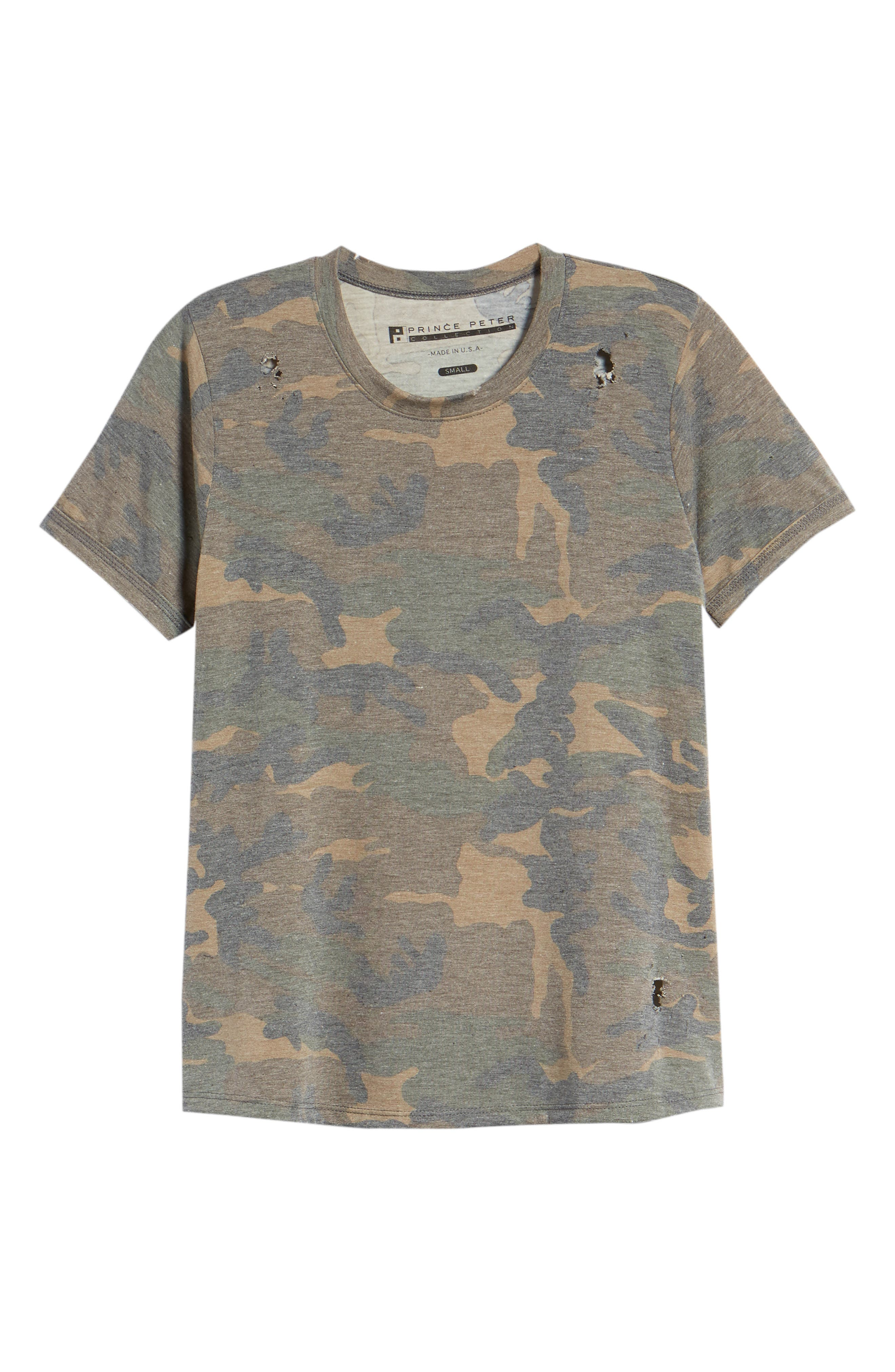 Distressed Camo Tee,                             Alternate thumbnail 6, color,                             304