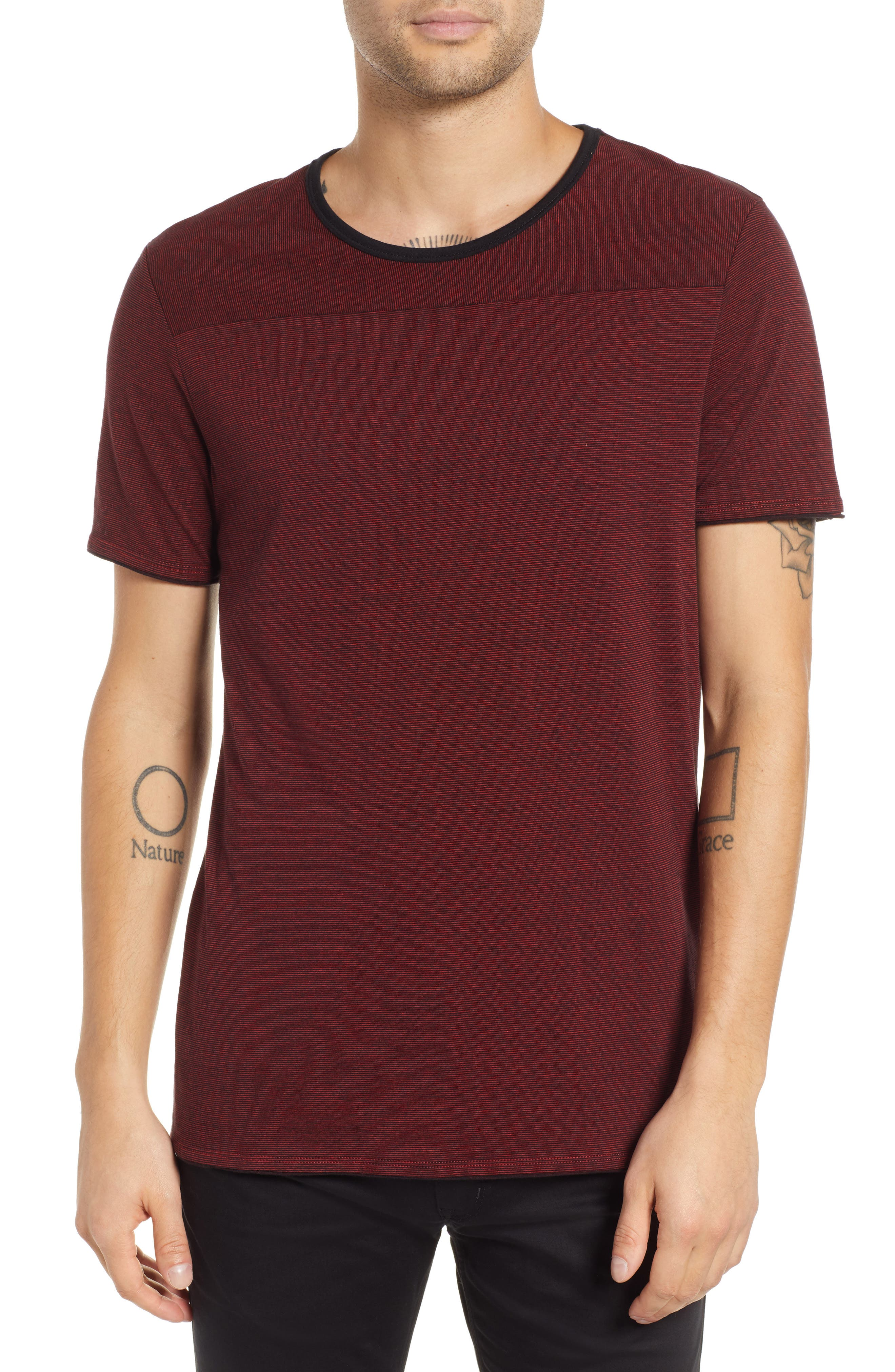 HUGO BOSS Drish Fineline Regular T-Shirt in Red