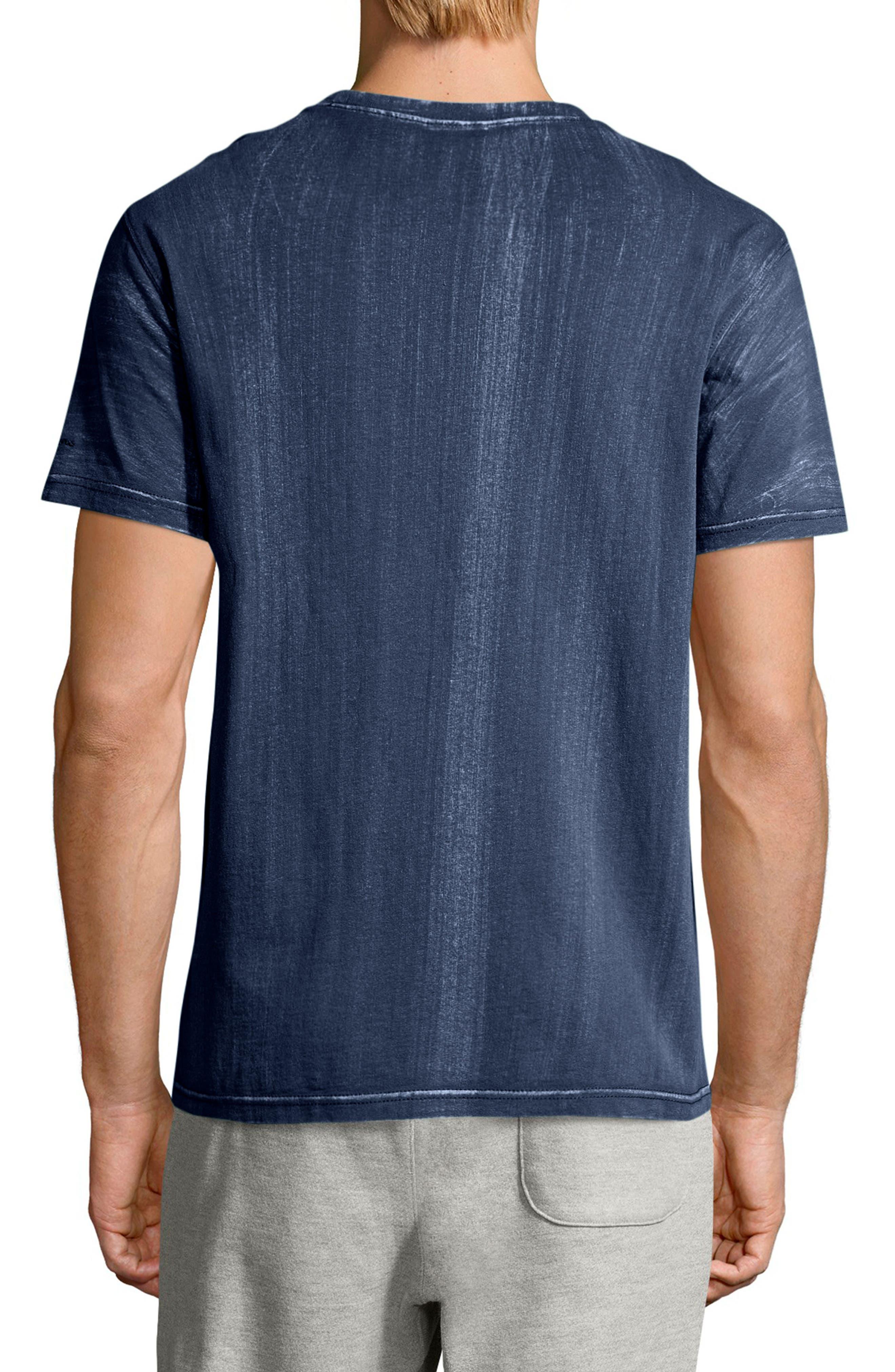 Bleached Wash Crewneck Cotton T-Shirt,                             Alternate thumbnail 5, color,