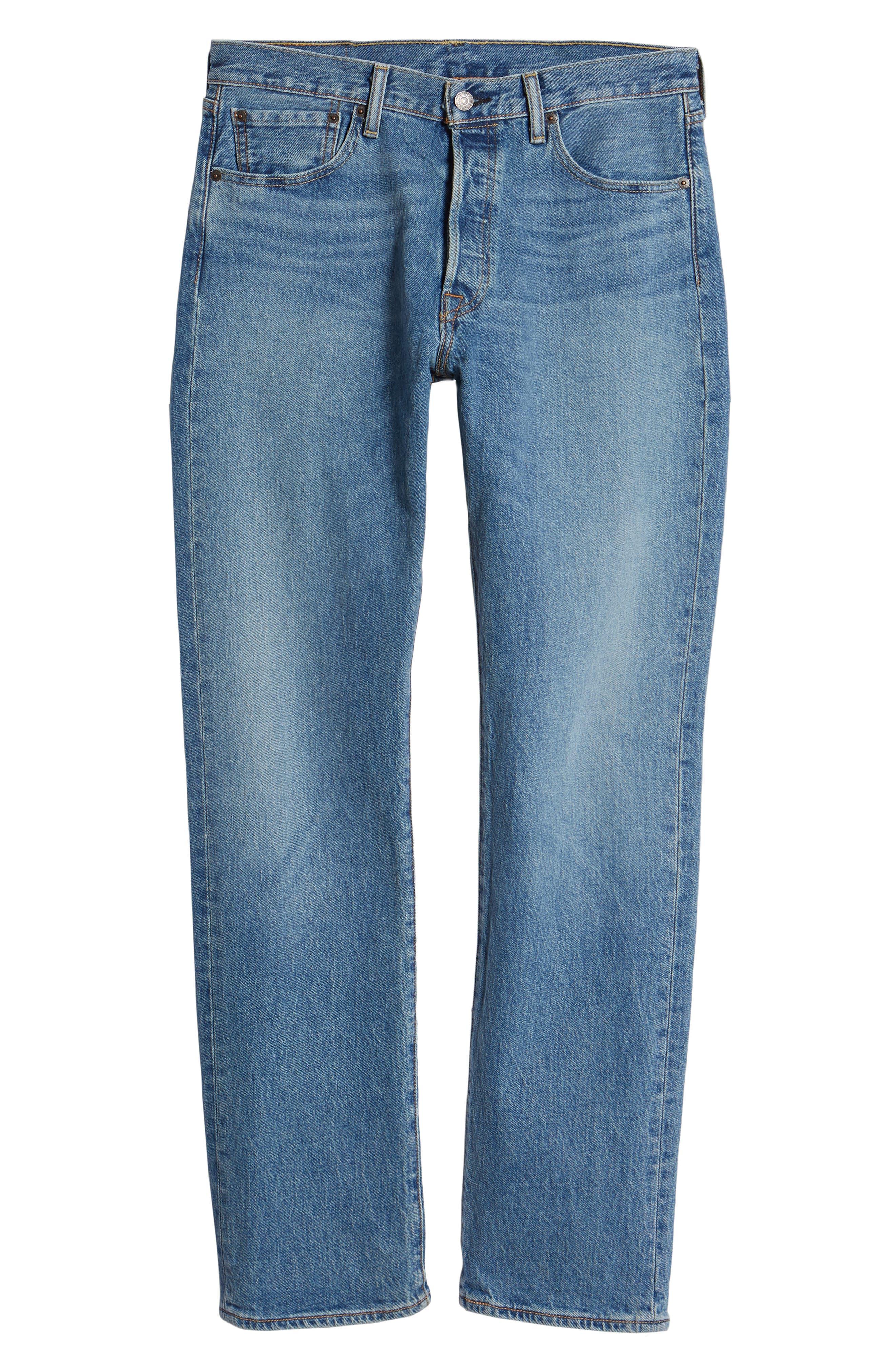 501<sup>®</sup> Original Straight Leg Jeans,                             Alternate thumbnail 6, color,                             421