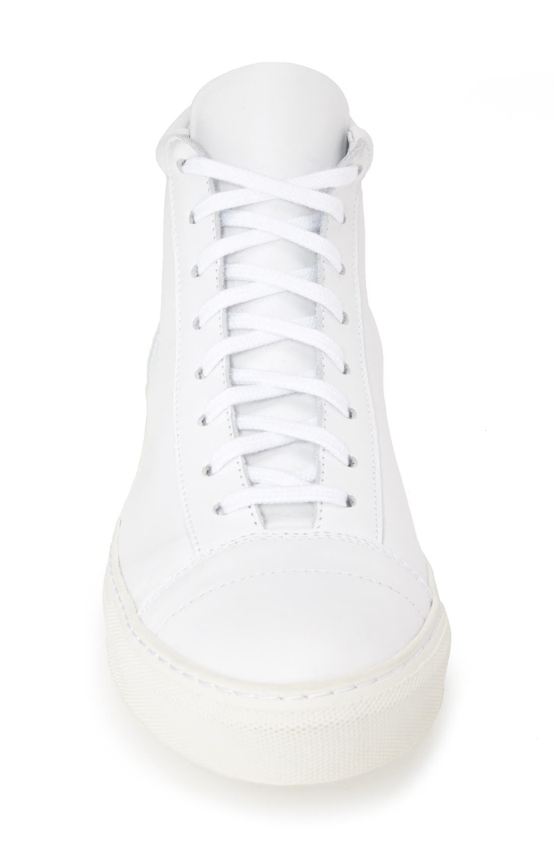 'Jorge' Leather Sneaker,                             Alternate thumbnail 3, color,                             100