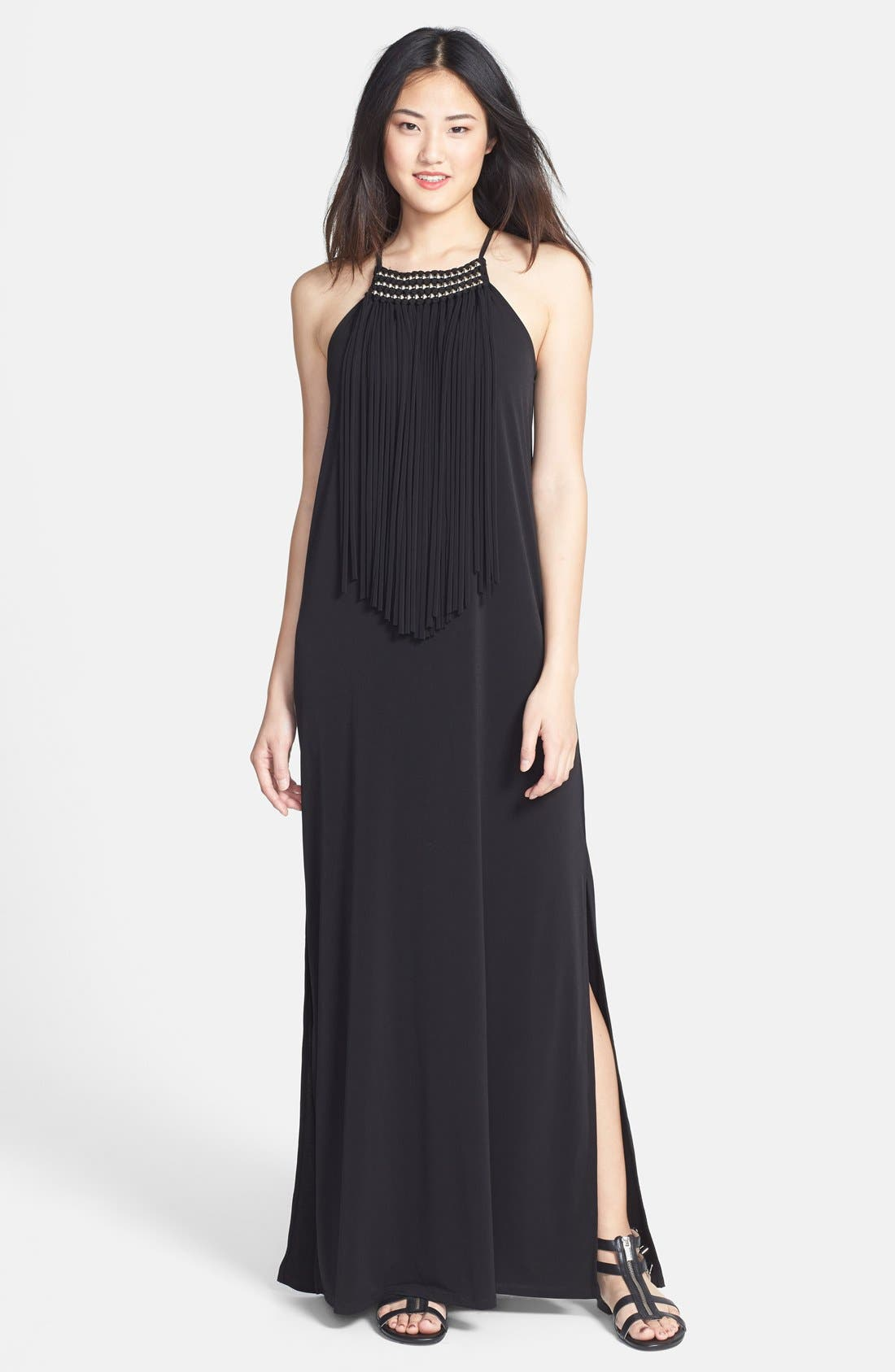 Bright Fringe Maxi Dress