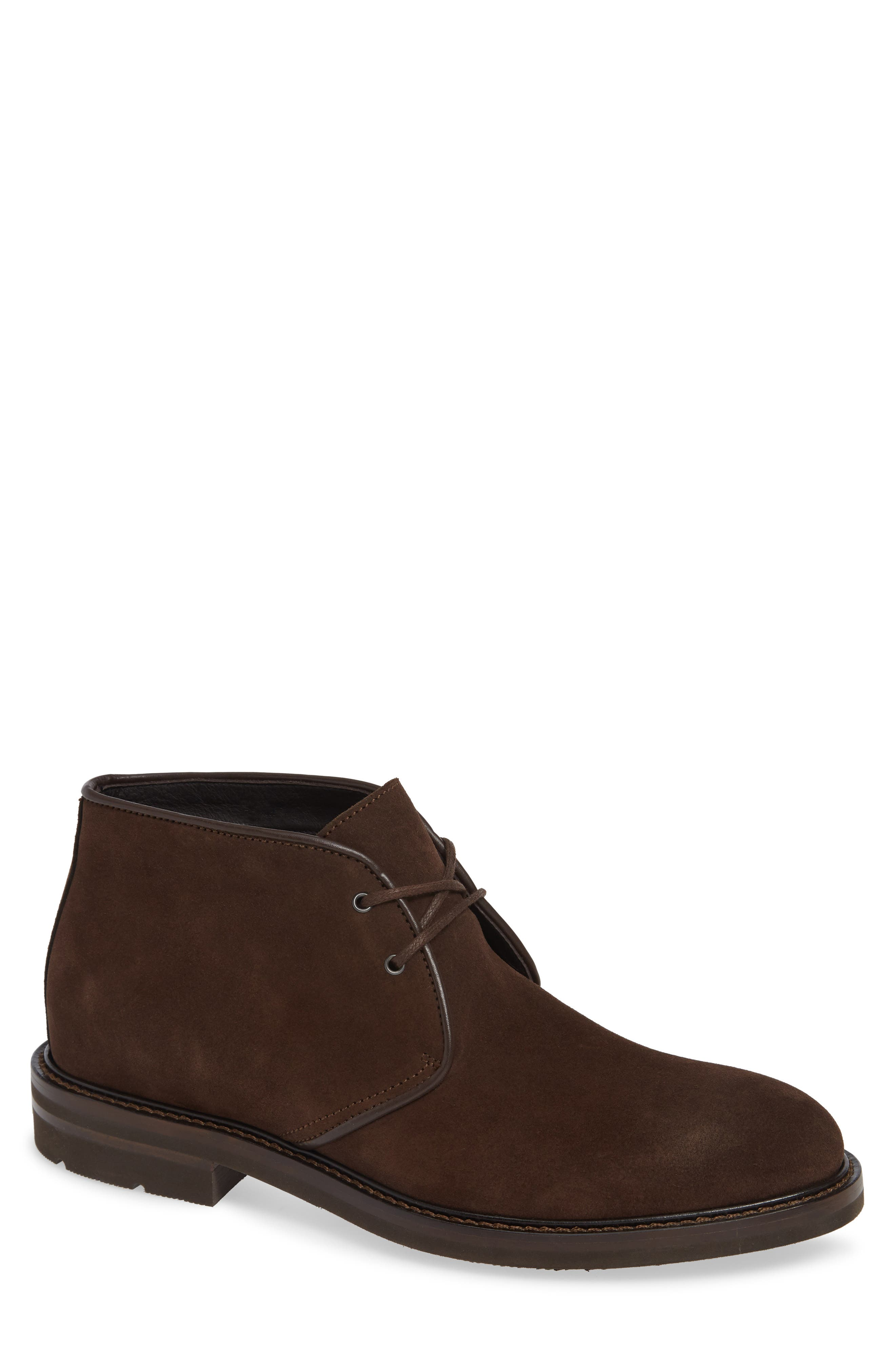 Aquatalia Rinaldo Chukka Water Resistant Boot- Brown