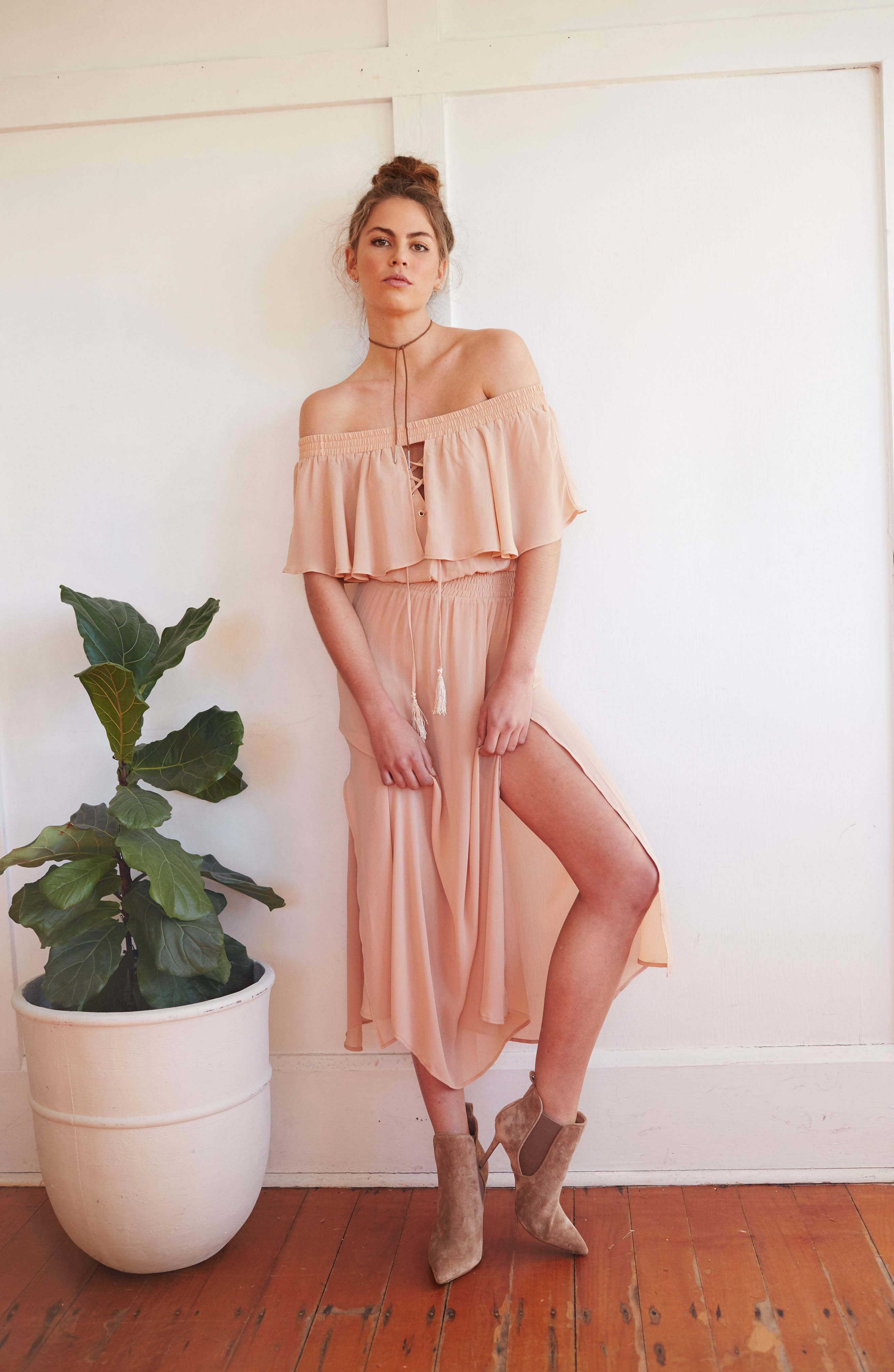 Touch the Sun Off the Shoulder Dress,                             Alternate thumbnail 12, color,