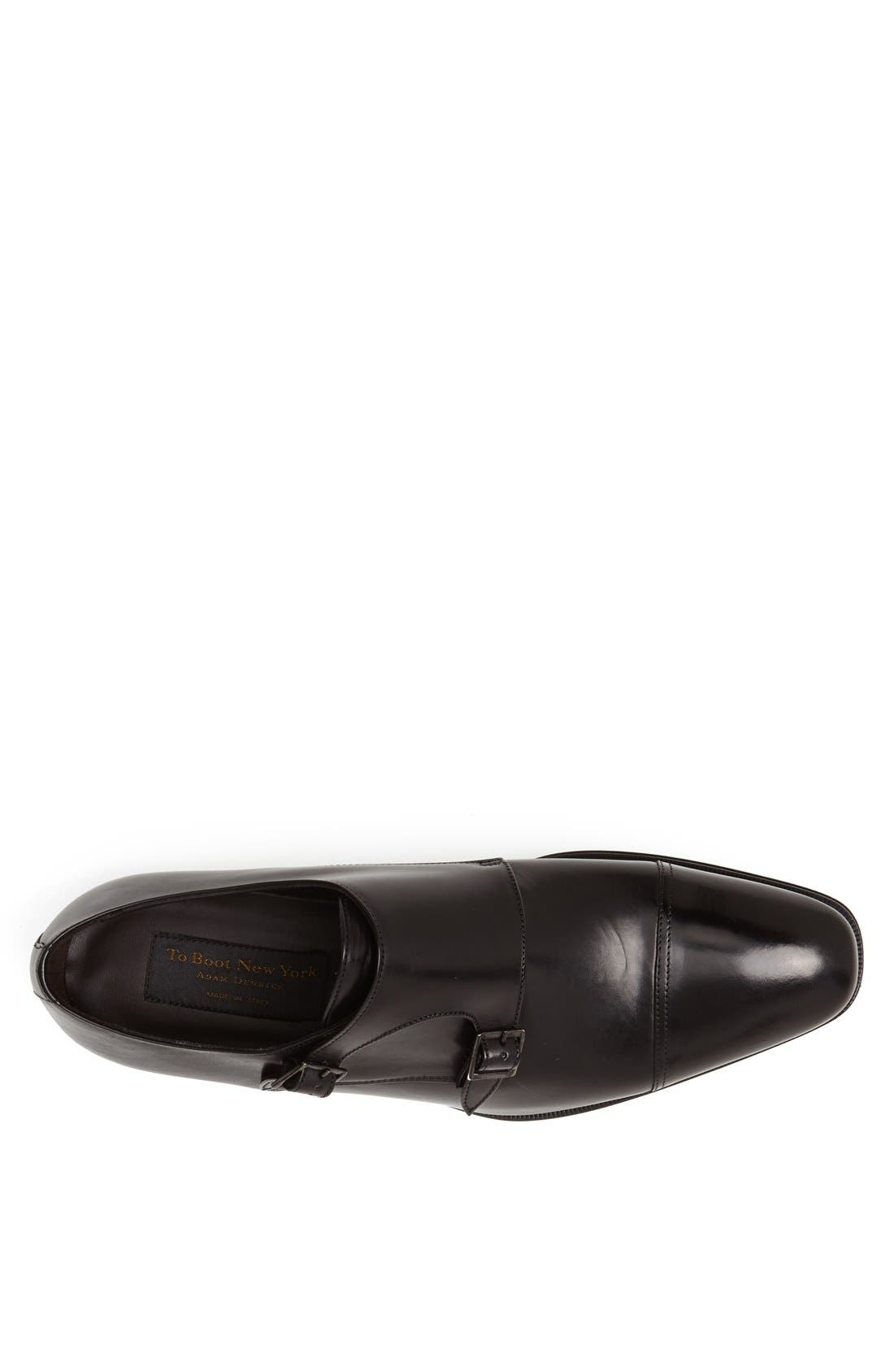 'Grant' Double Monk Shoe,                             Alternate thumbnail 4, color,                             PARMA BLACK