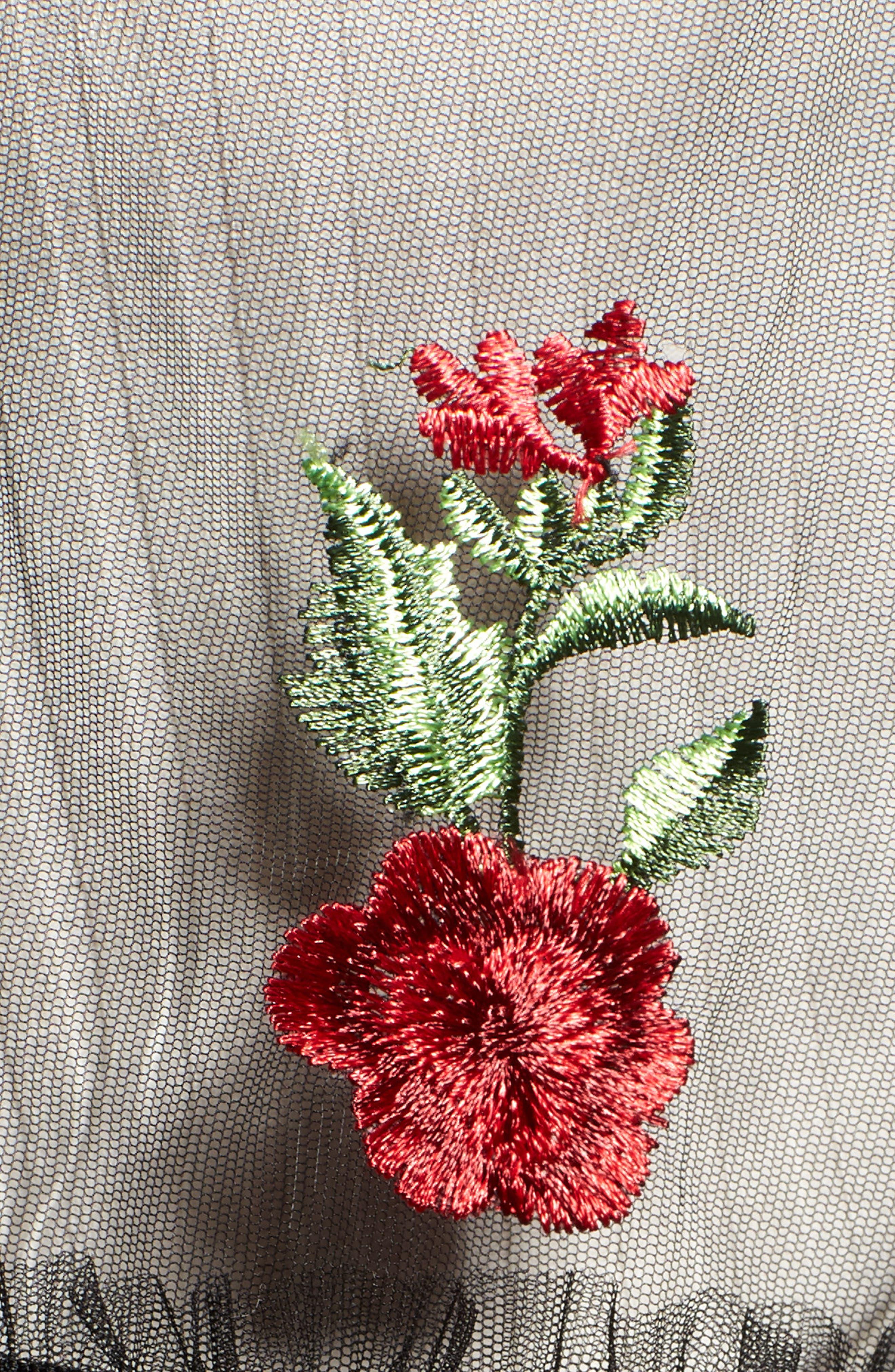 Desert Rose Kimono,                             Alternate thumbnail 5, color,                             BLACK